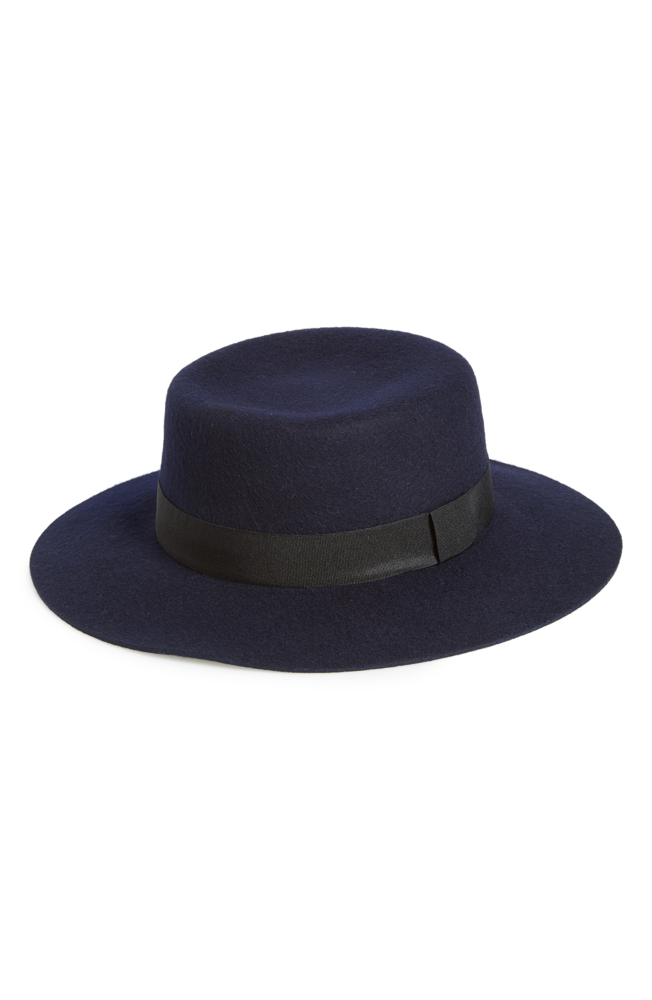 Titanic Hats History – Edwardian Ladies Hats Womens Fits Wool Felt Boater - Blue $9.98 AT vintagedancer.com