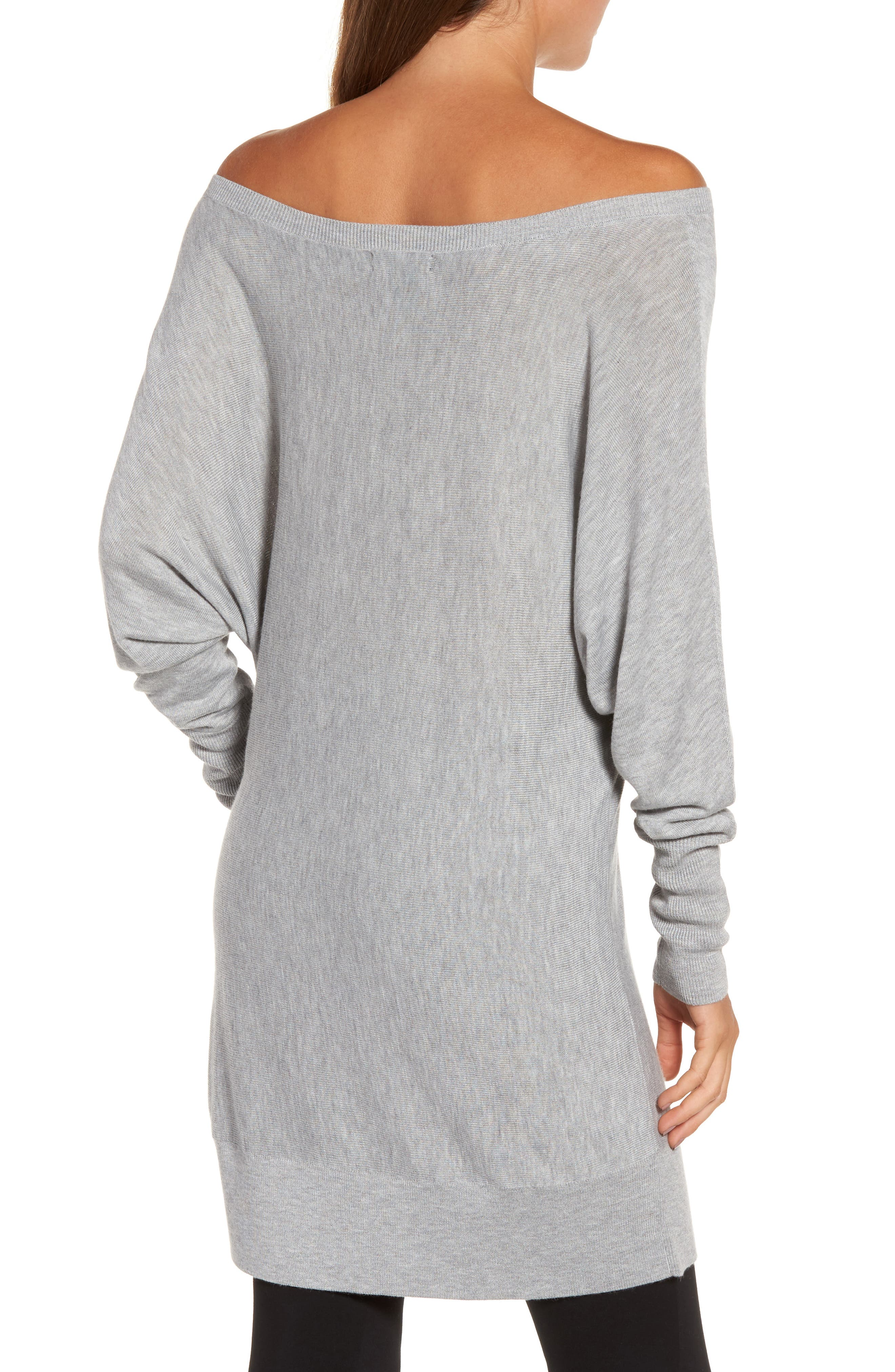 Off the Shoulder Sweater Tunic,                             Alternate thumbnail 9, color,