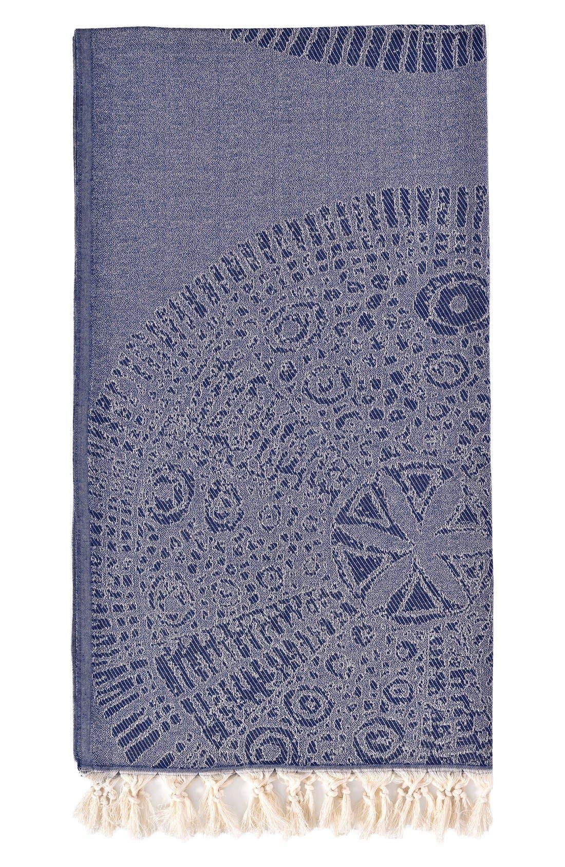 Anatolian Turkish Pestemal Beach Towel,                             Main thumbnail 1, color,                             400