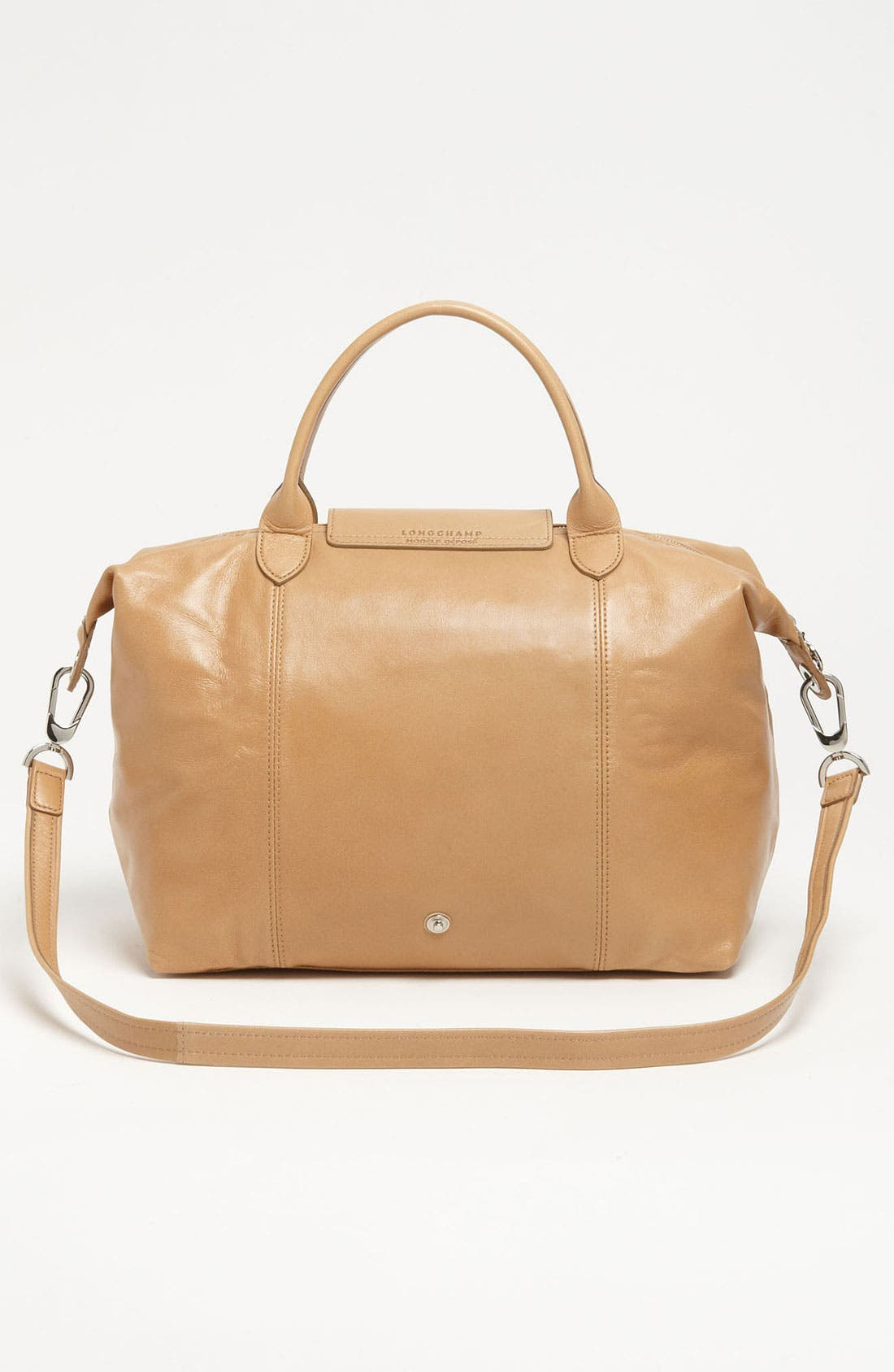 Medium 'Le Pliage Cuir' Leather Top Handle Tote,                             Alternate thumbnail 42, color,