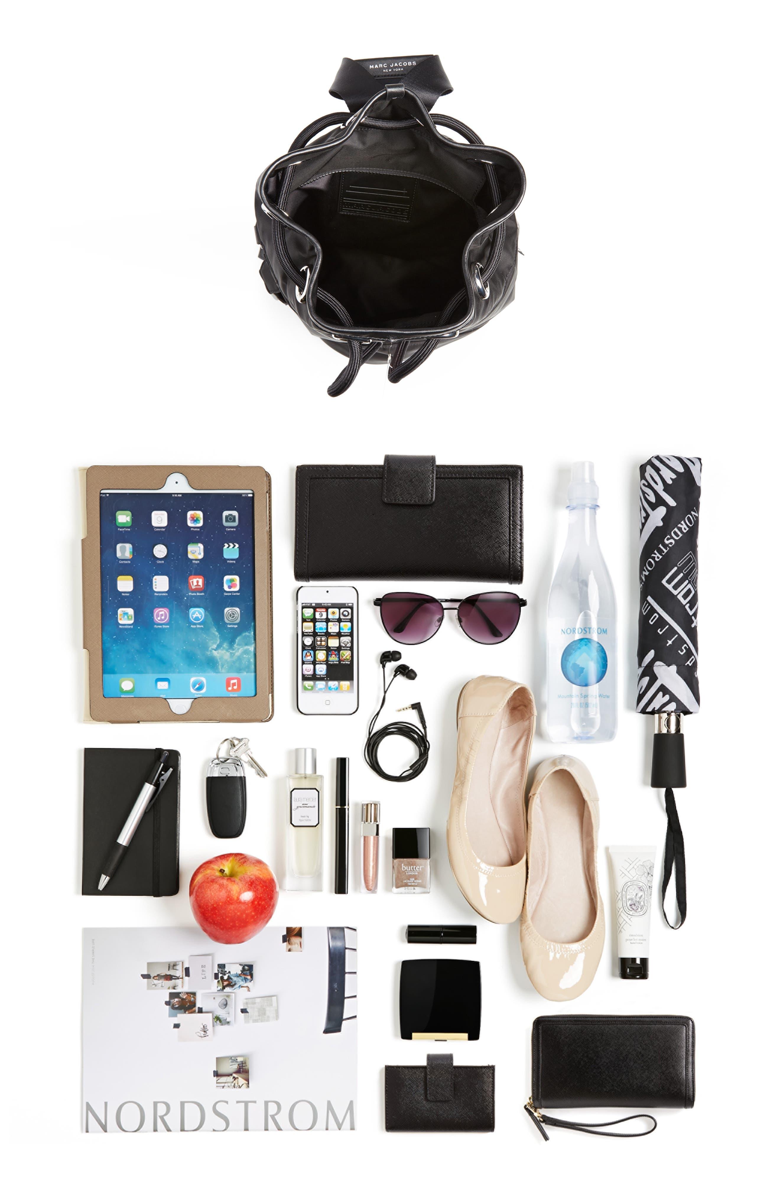 Nylon Sport Sling Bag,                             Alternate thumbnail 7, color,                             BLACK