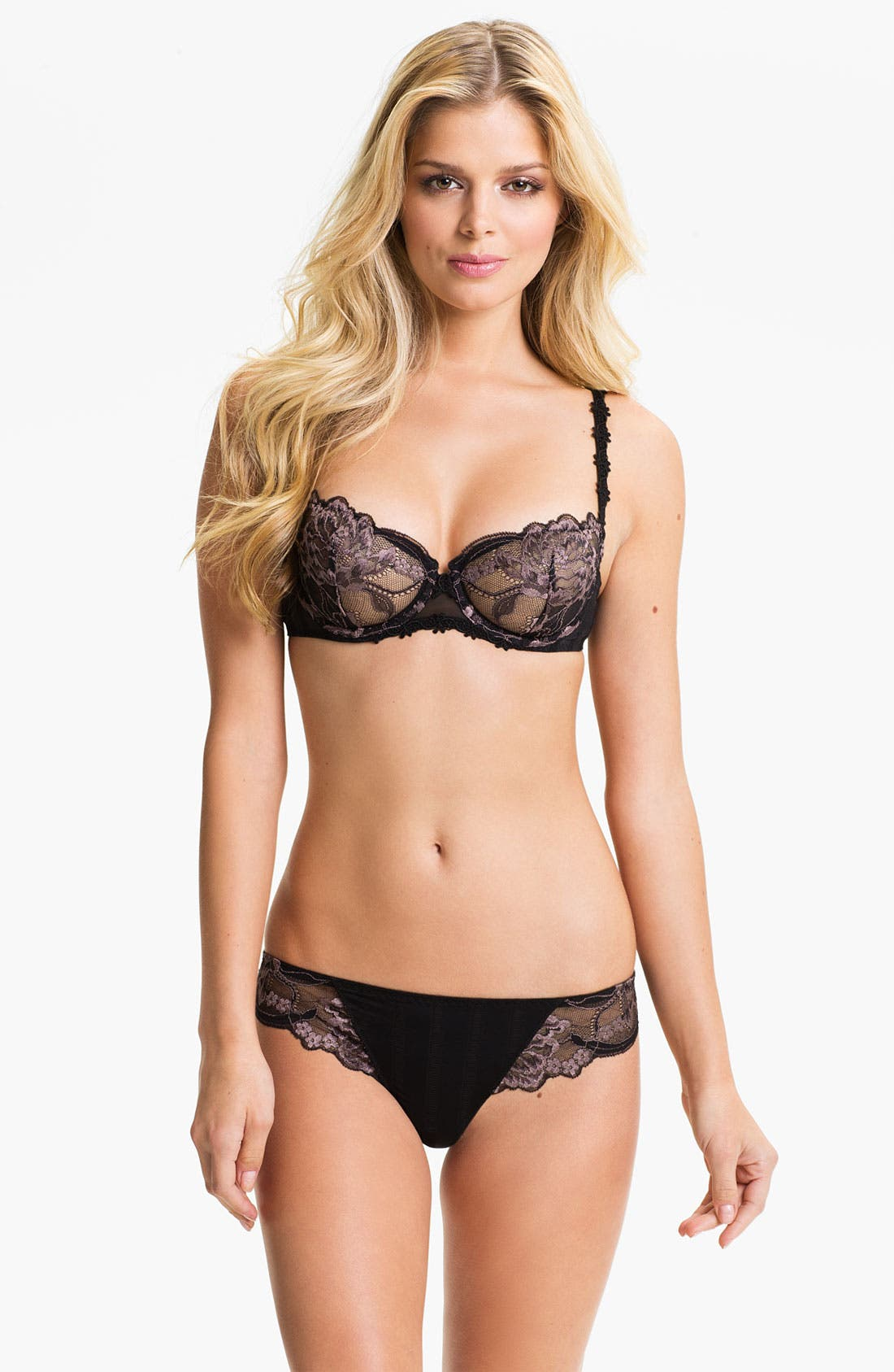 'Amour' Underwire Demi Bra,                             Alternate thumbnail 14, color,