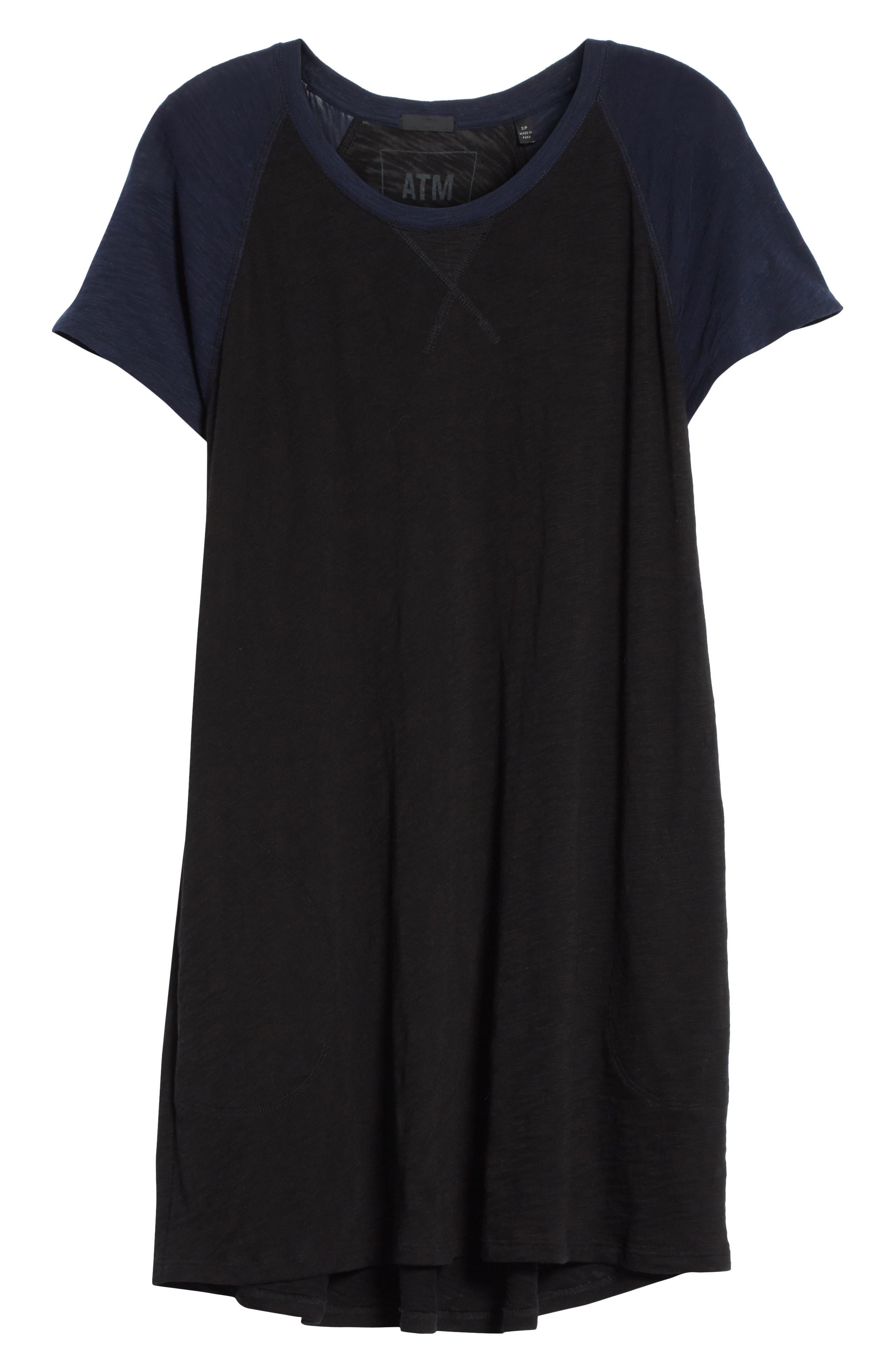 Slub Cotton Baseball T-Shirt Dress,                             Alternate thumbnail 6, color,                             400