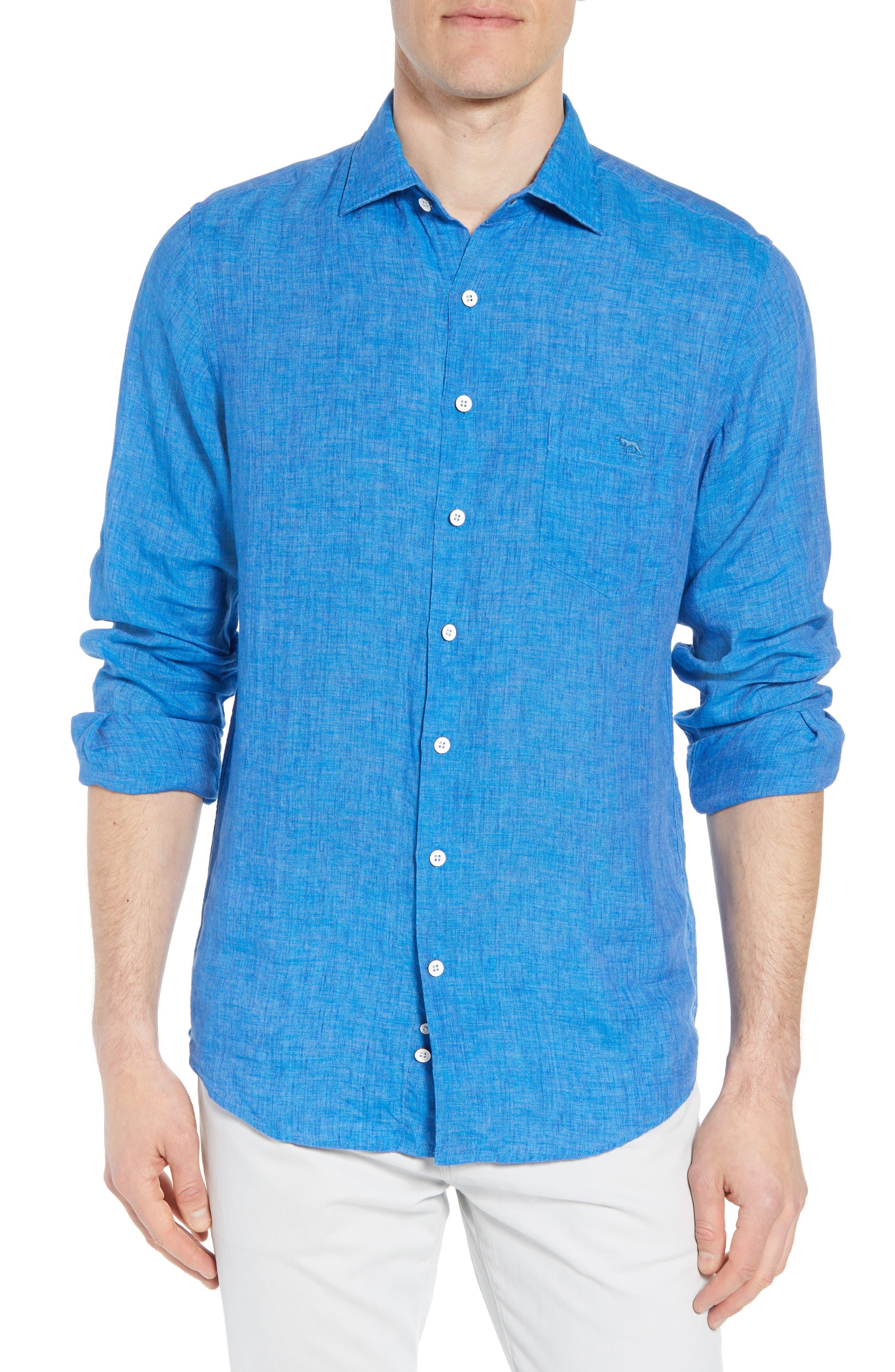 RODD & GUNN Harris Bay Regular Fit Linen Sport Shirt, Main, color, 438