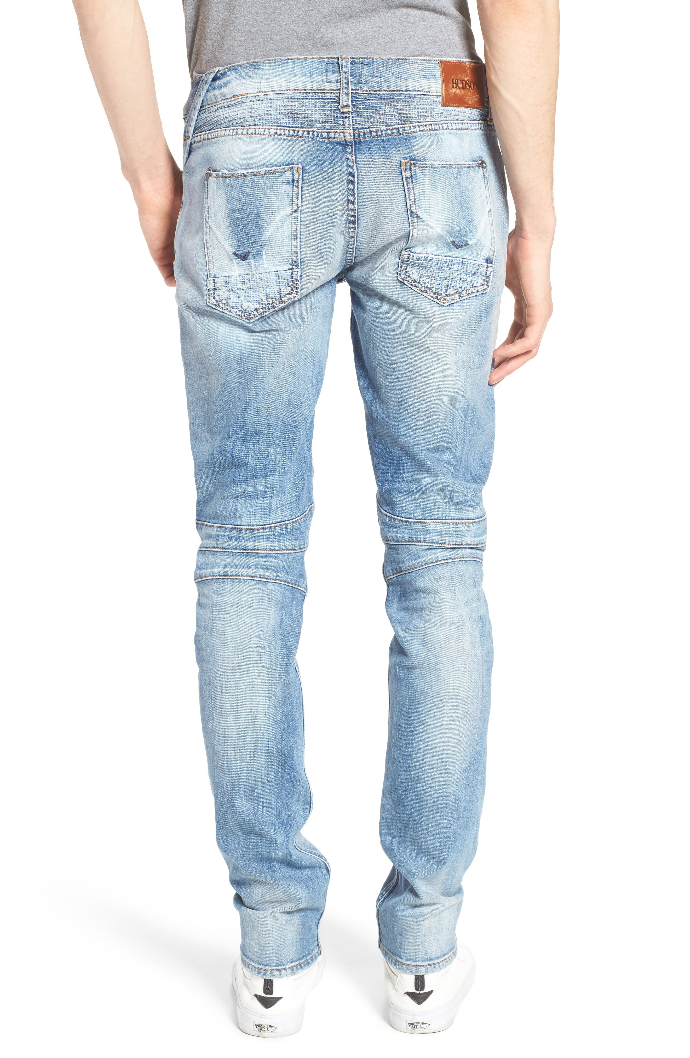 Blinder Skinny Fit Moto Jeans,                             Alternate thumbnail 2, color,                             THRASH