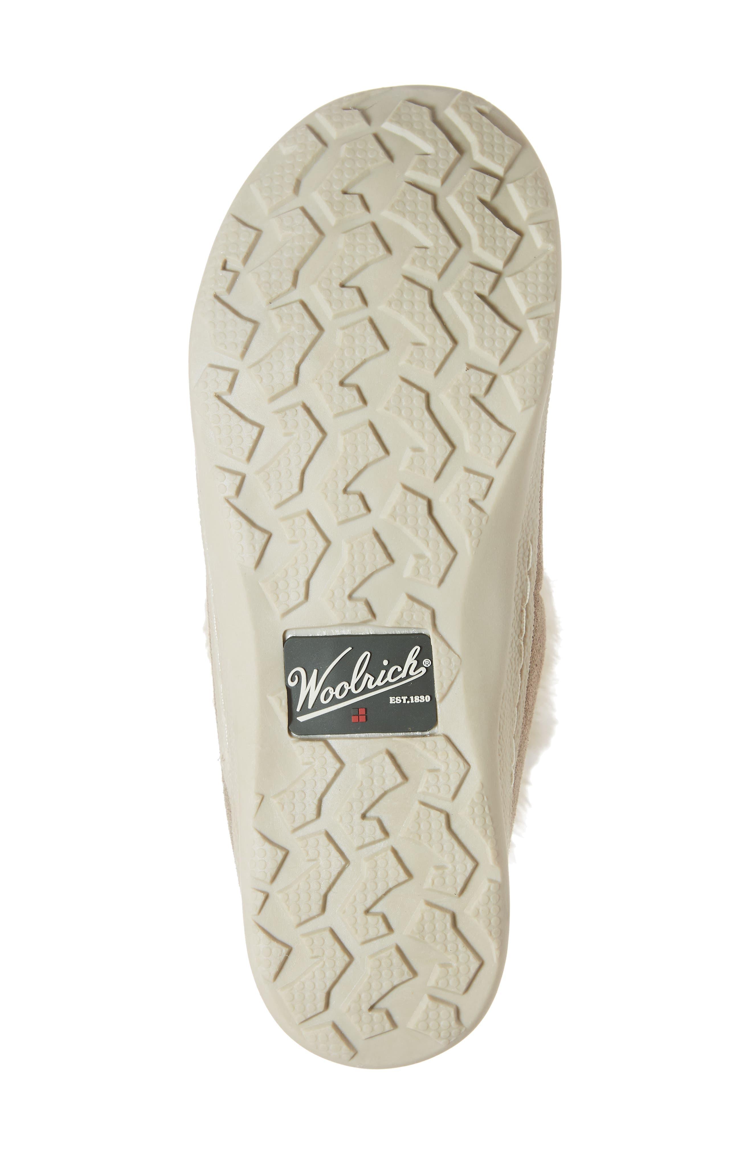 WOOLRICH,                             Pine Creek II Faux Fur Trim Boot,                             Alternate thumbnail 6, color,                             STEEL/ HERRINGBONE SUEDE