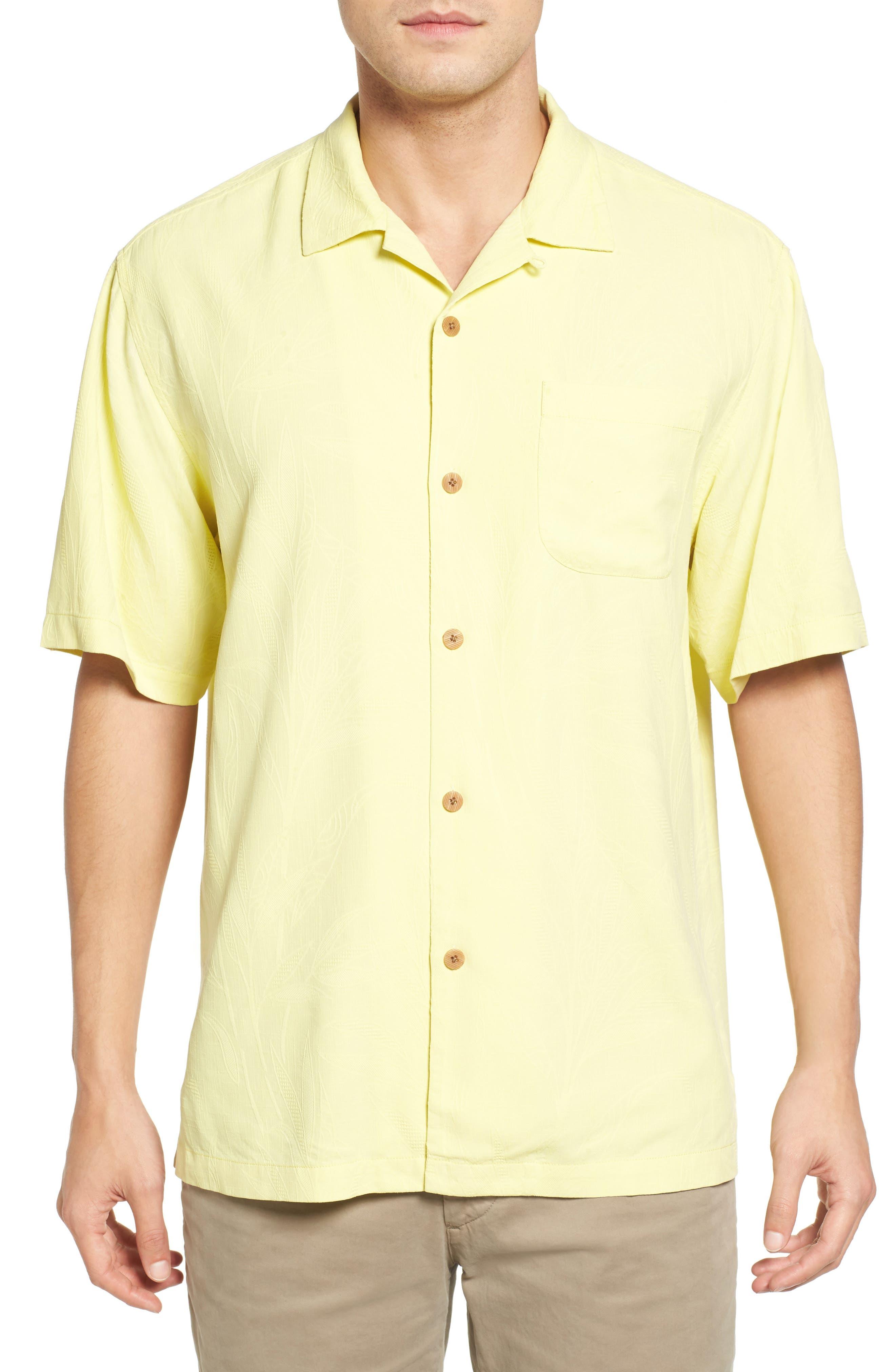 Islander Fronds Silk Camp Shirt,                             Main thumbnail 8, color,