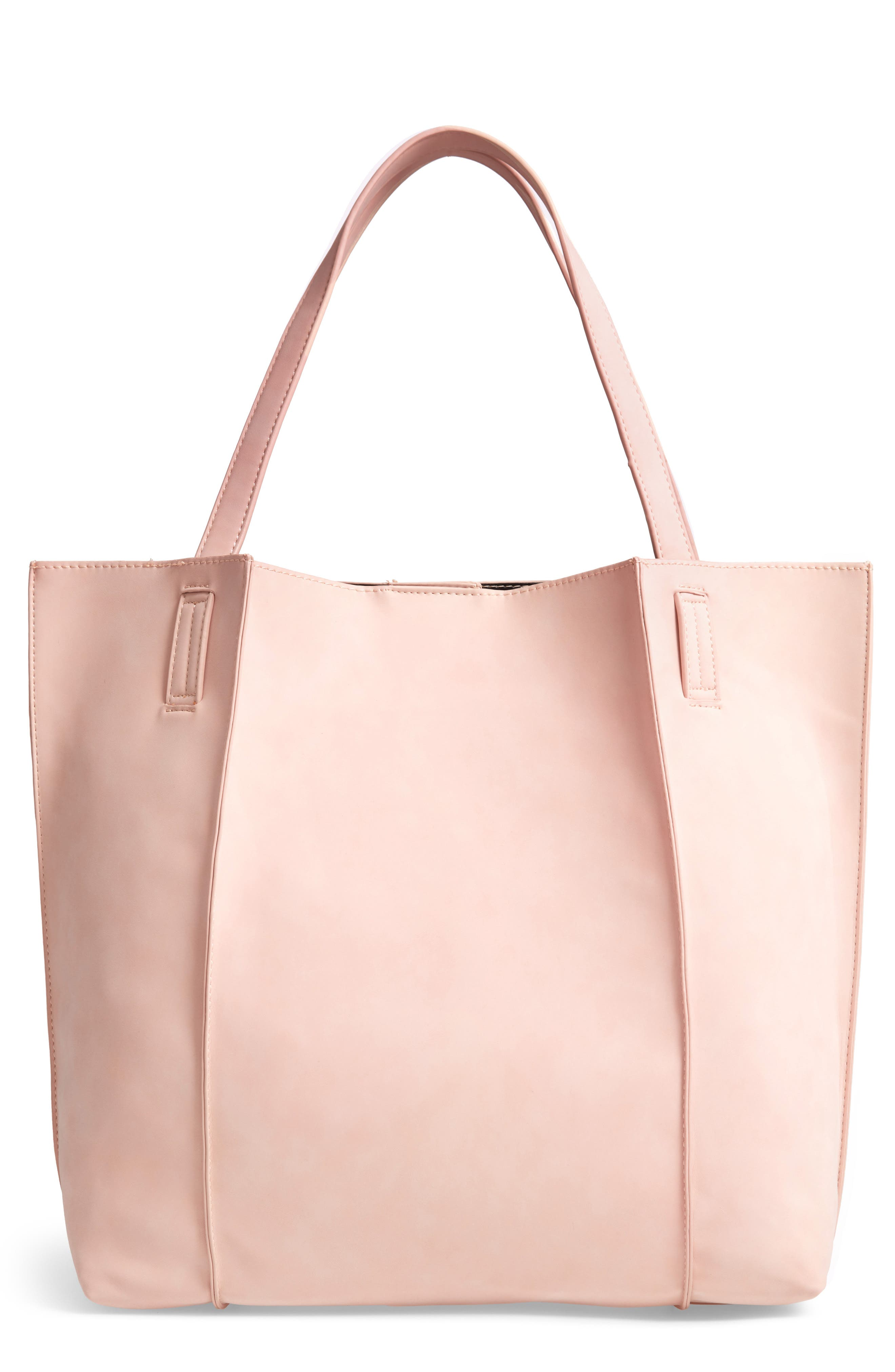 Blair Faux Leather Tote,                             Main thumbnail 1, color,                             BLUSH