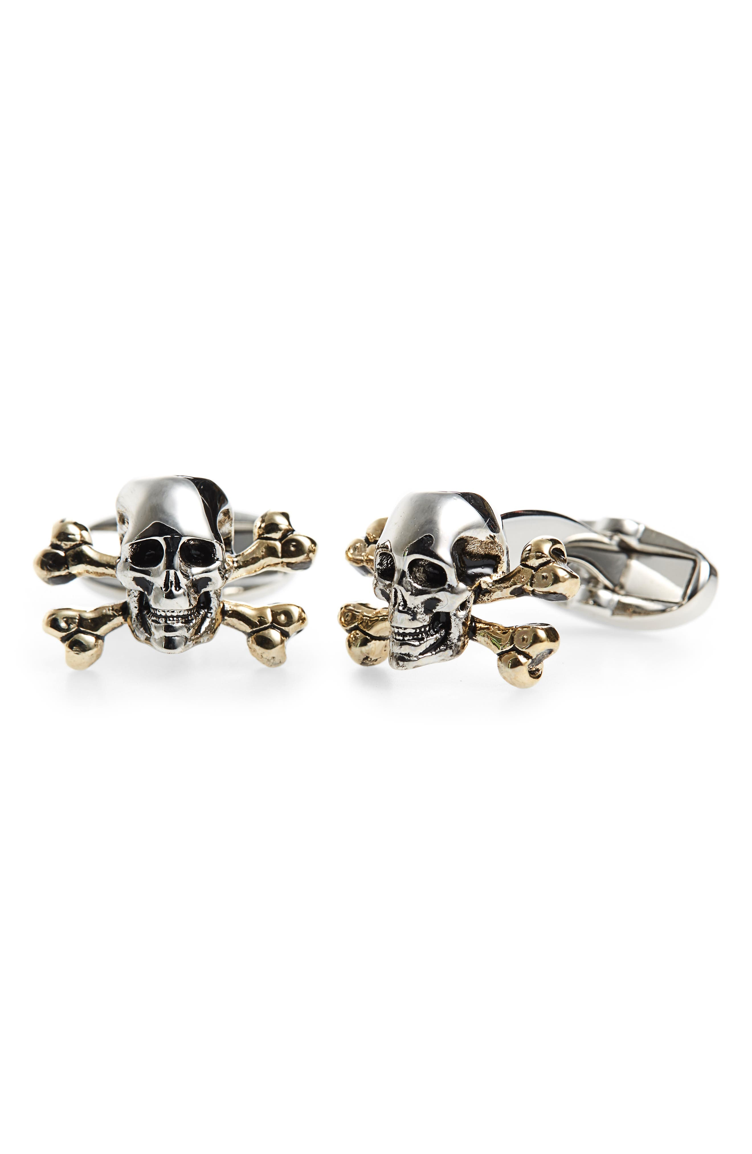 Skull Cuff Links,                         Main,                         color,