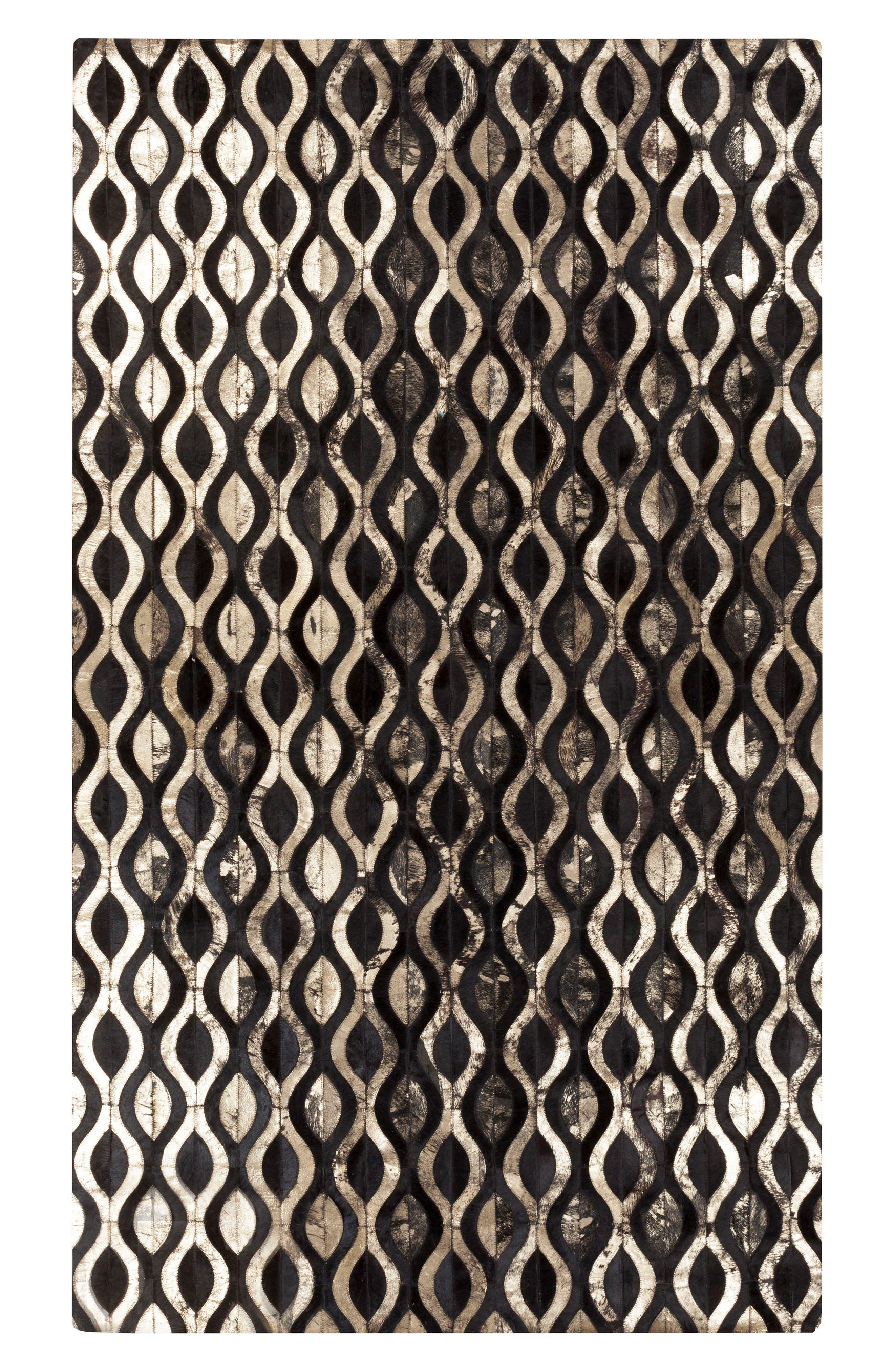 Trail Stone Genuine Calf Hair Rug,                             Main thumbnail 1, color,                             001