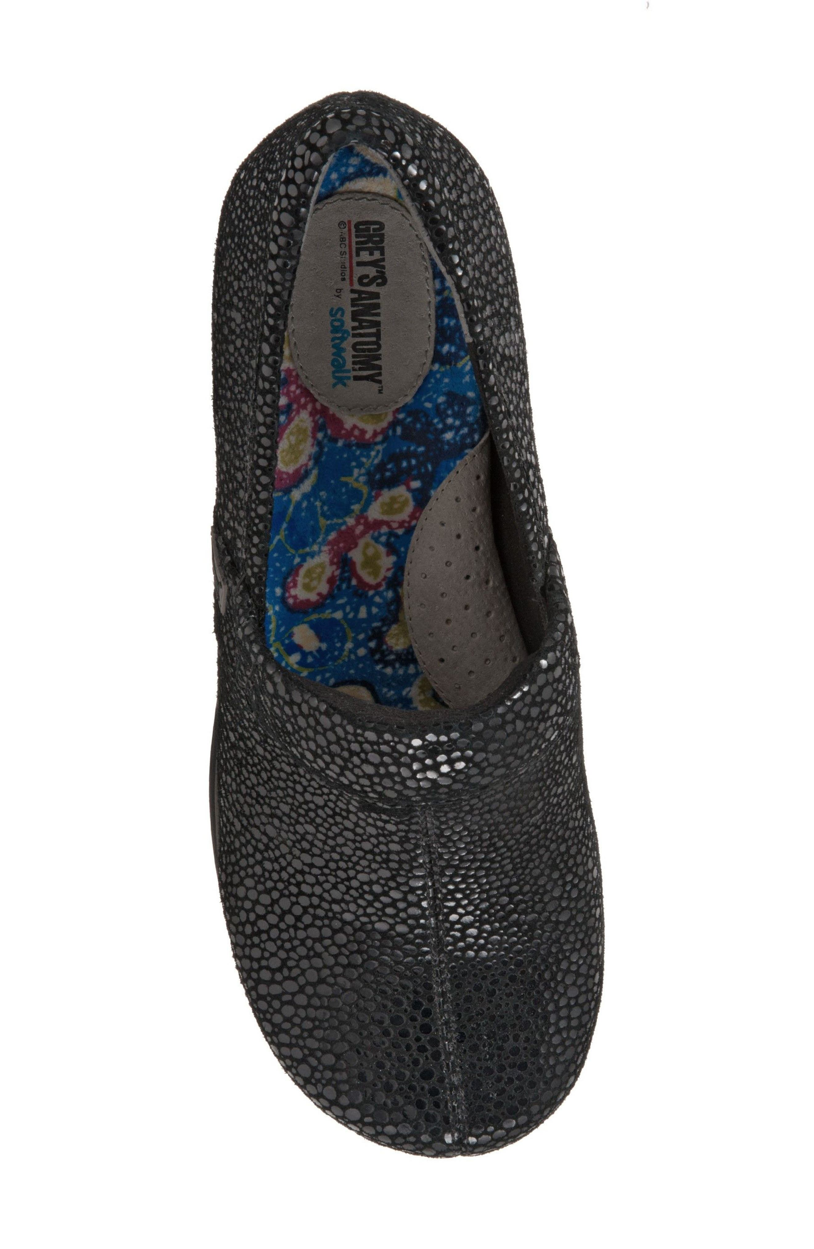 Grey's Anatomy<sup>®</sup> by Softwalk<sup>®</sup> 'Meredith' Leather Clog,                             Alternate thumbnail 5, color,                             004