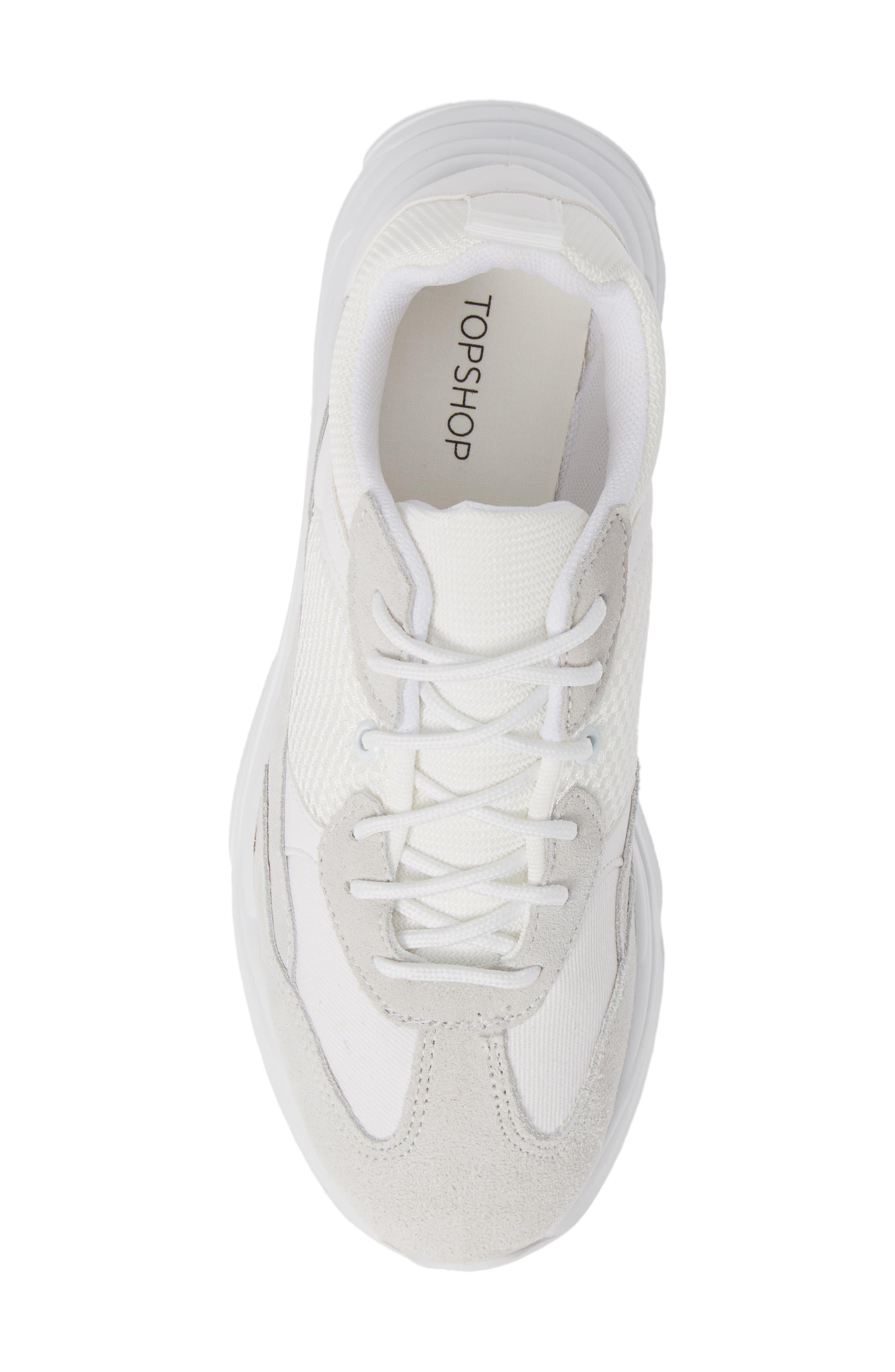 Ciara Chunky Sneaker,                             Alternate thumbnail 5, color,                             WHITE MULTI