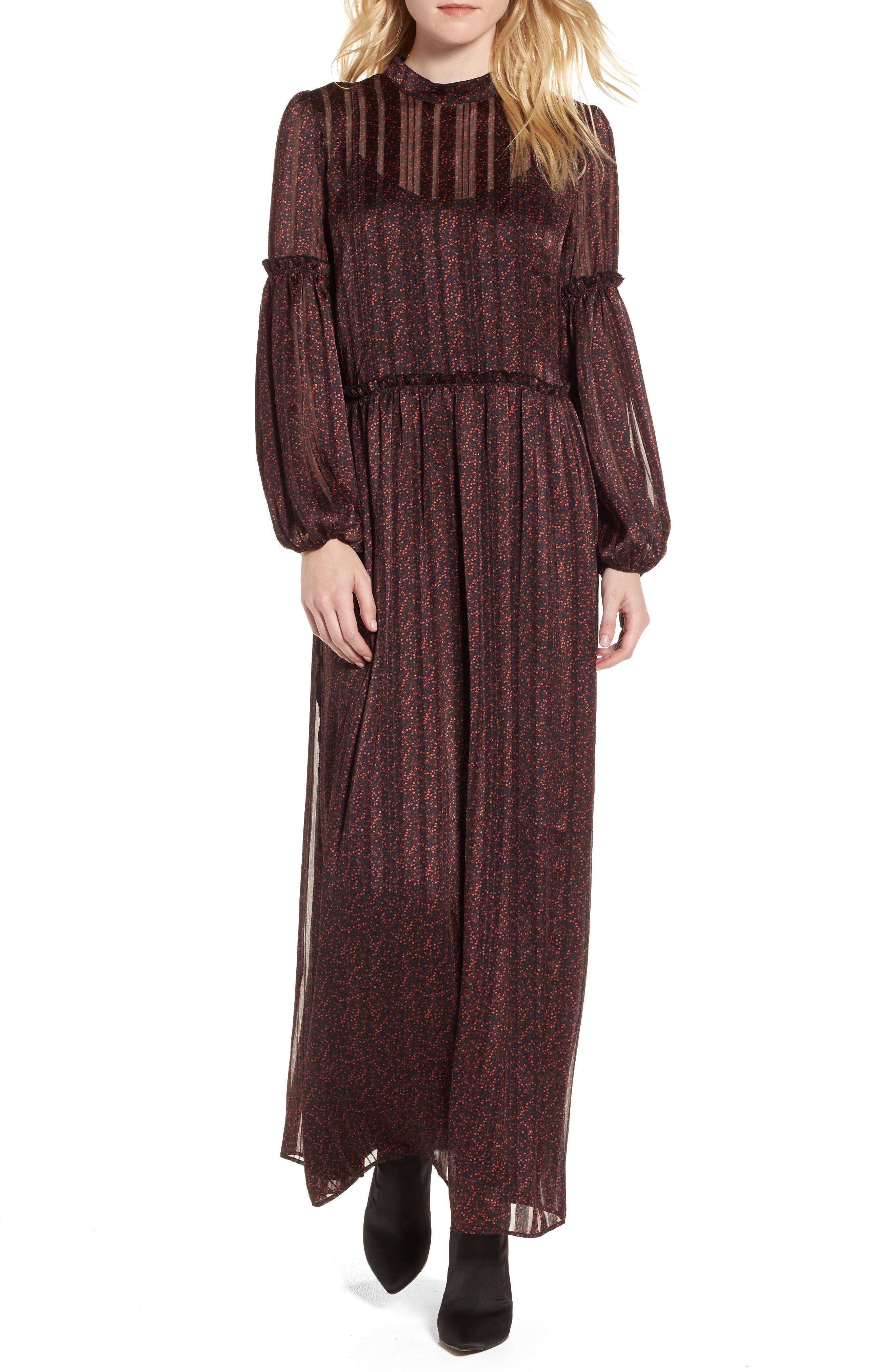 Print Long Dress,                         Main,                         color, 600