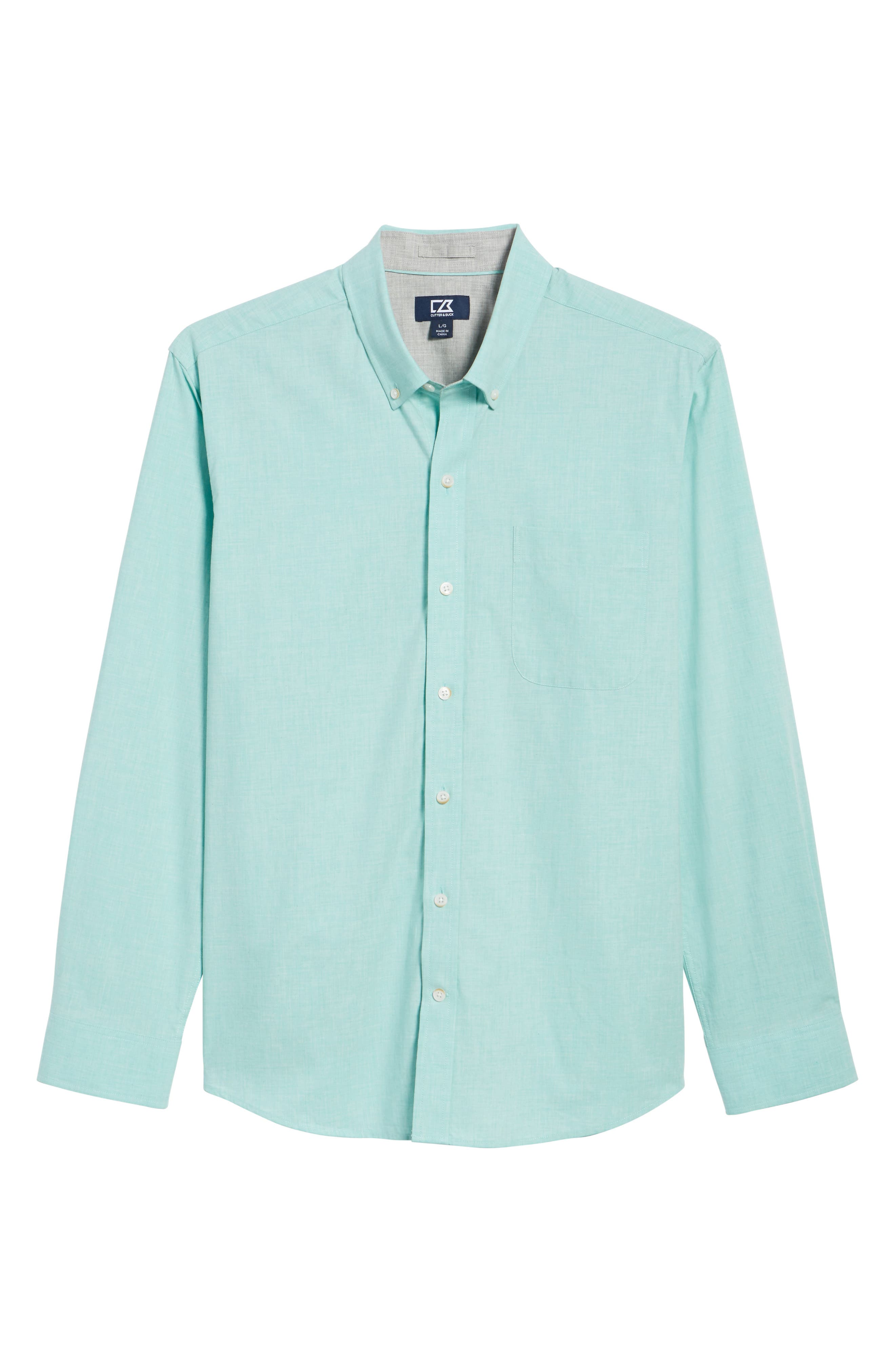 Heather Classic Fit No-Iron Sport Shirt,                             Alternate thumbnail 6, color,                             328