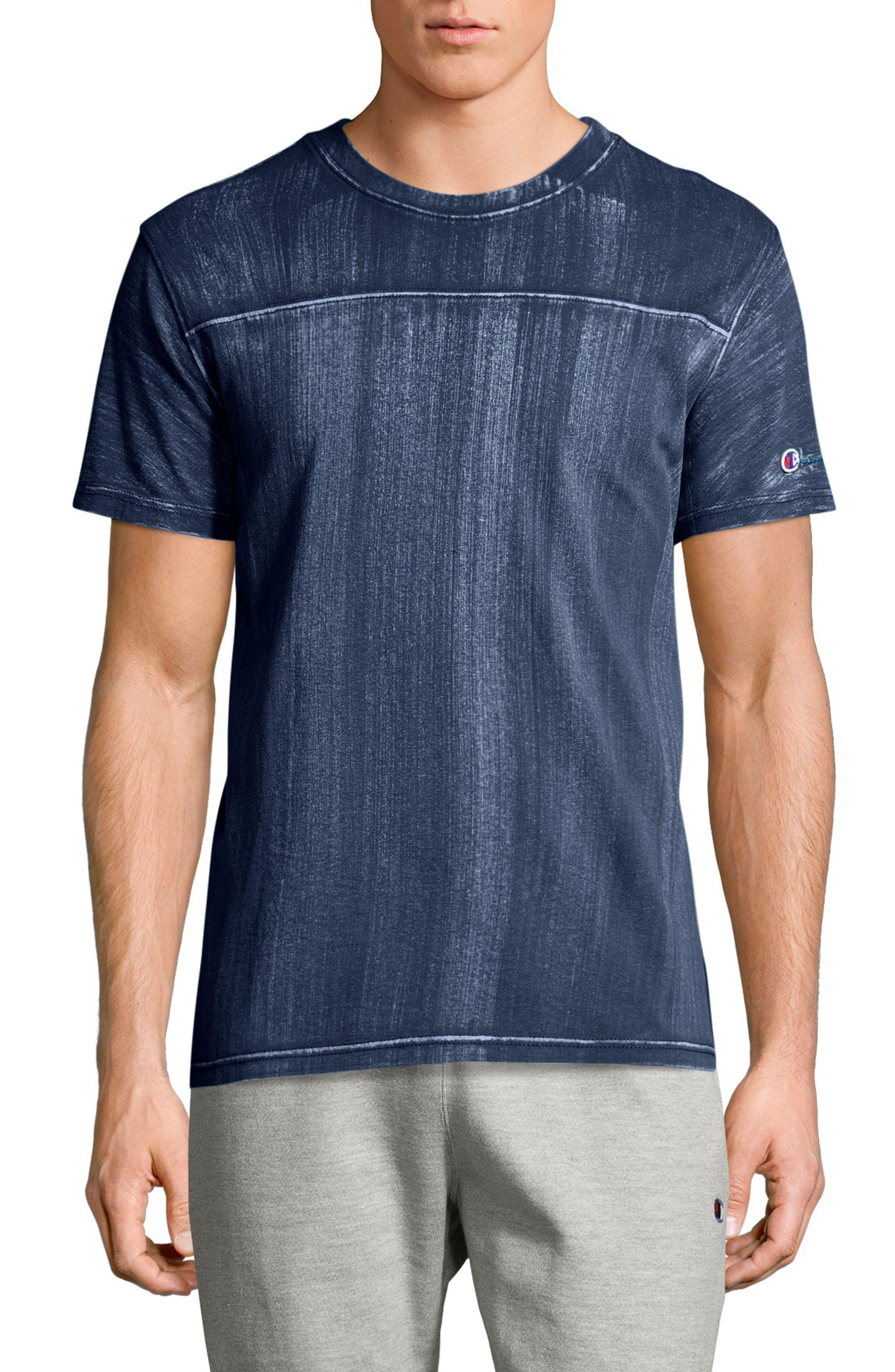Bleached Wash Crewneck Cotton T-Shirt,                             Main thumbnail 2, color,