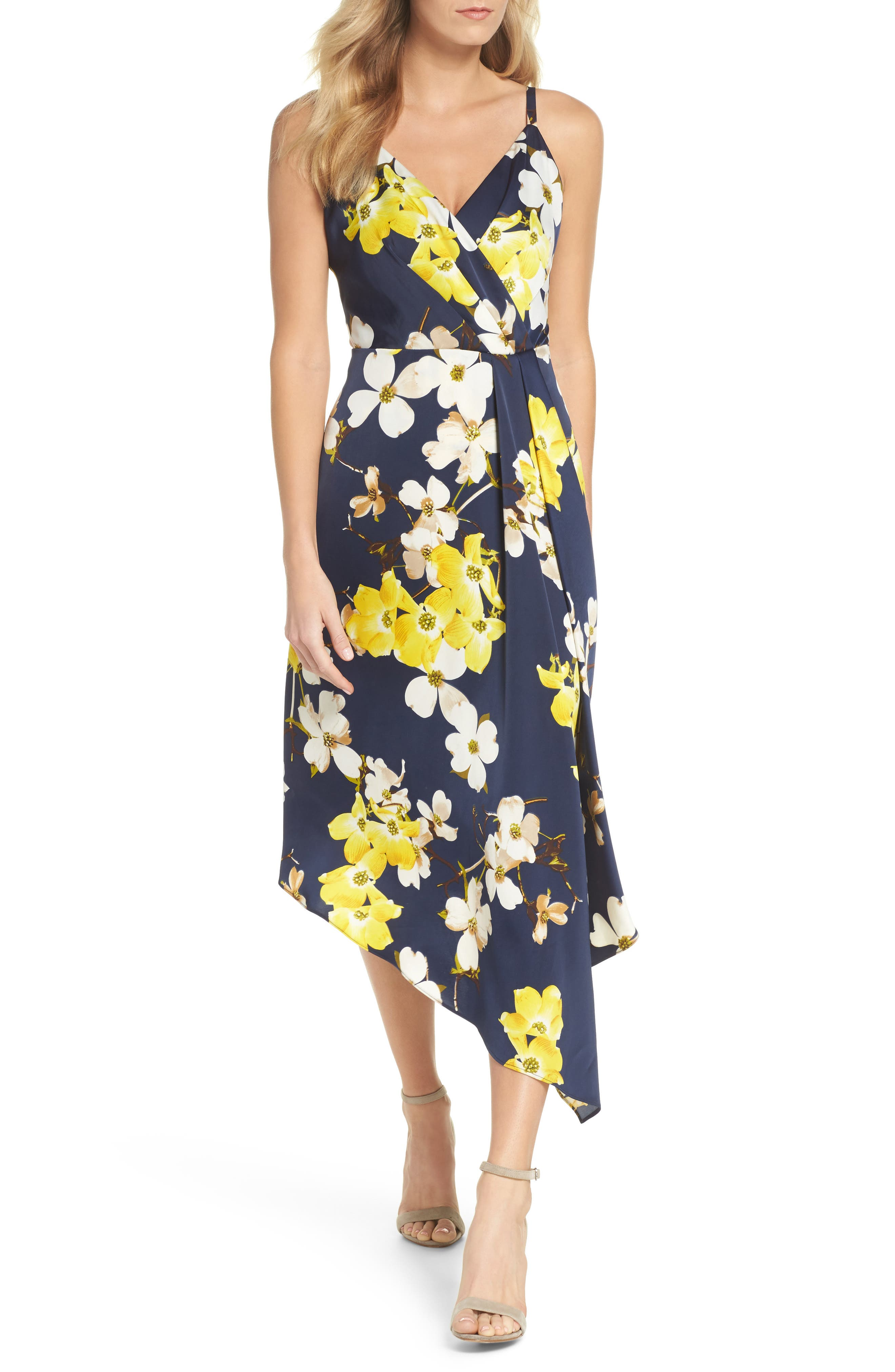 Asymmetrical Midi Dress,                             Main thumbnail 1, color,                             400