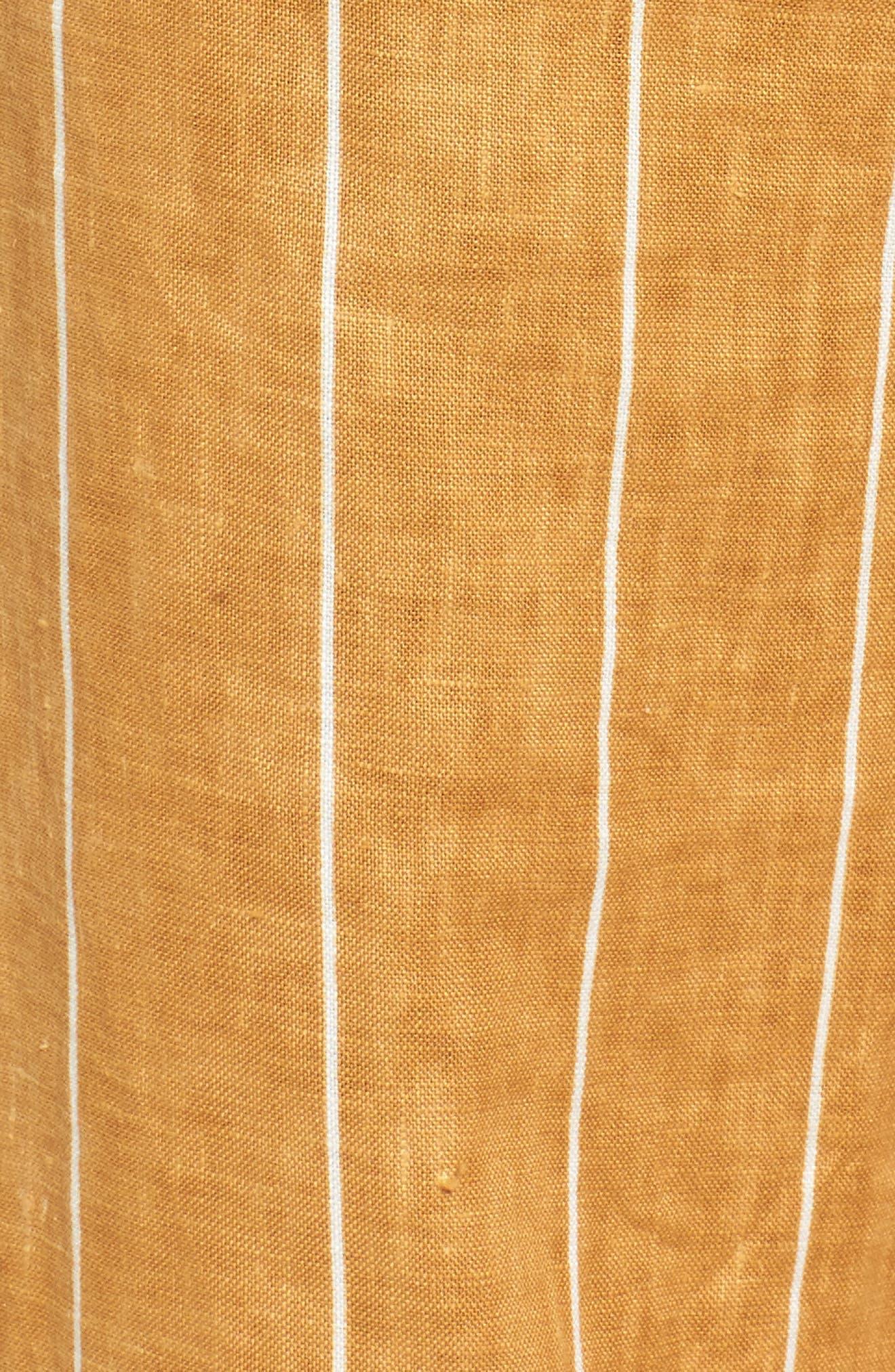 Como Wide Leg Crop Linen Pants,                             Alternate thumbnail 5, color,                             COPENHAGEN STRIPE