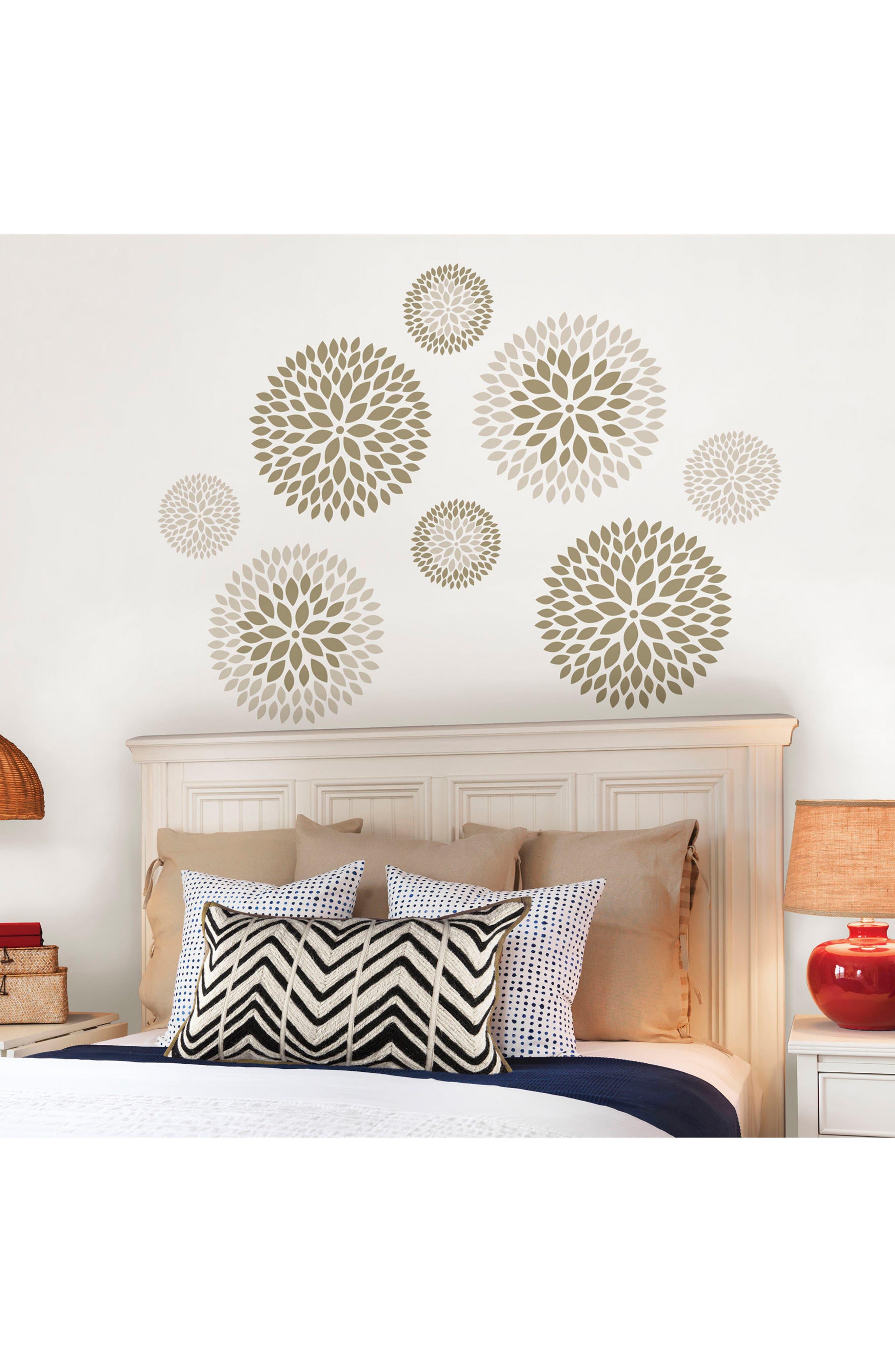 Chrysanthemum 8-Piece Wall Art Decal Set,                             Alternate thumbnail 2, color,                             250