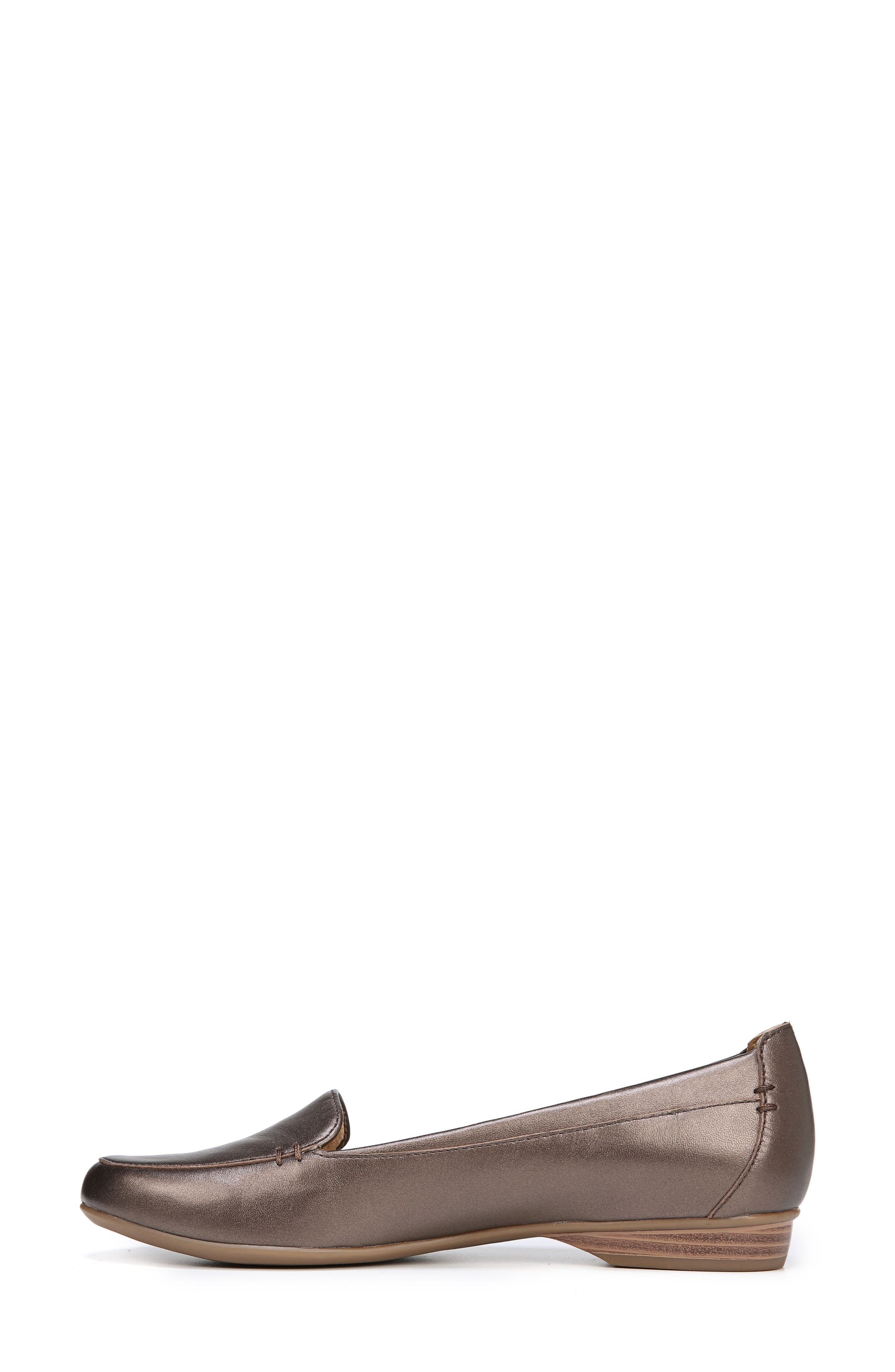 'Saban' Leather Loafer,                             Alternate thumbnail 7, color,                             BROWN BRONZE LEATHER
