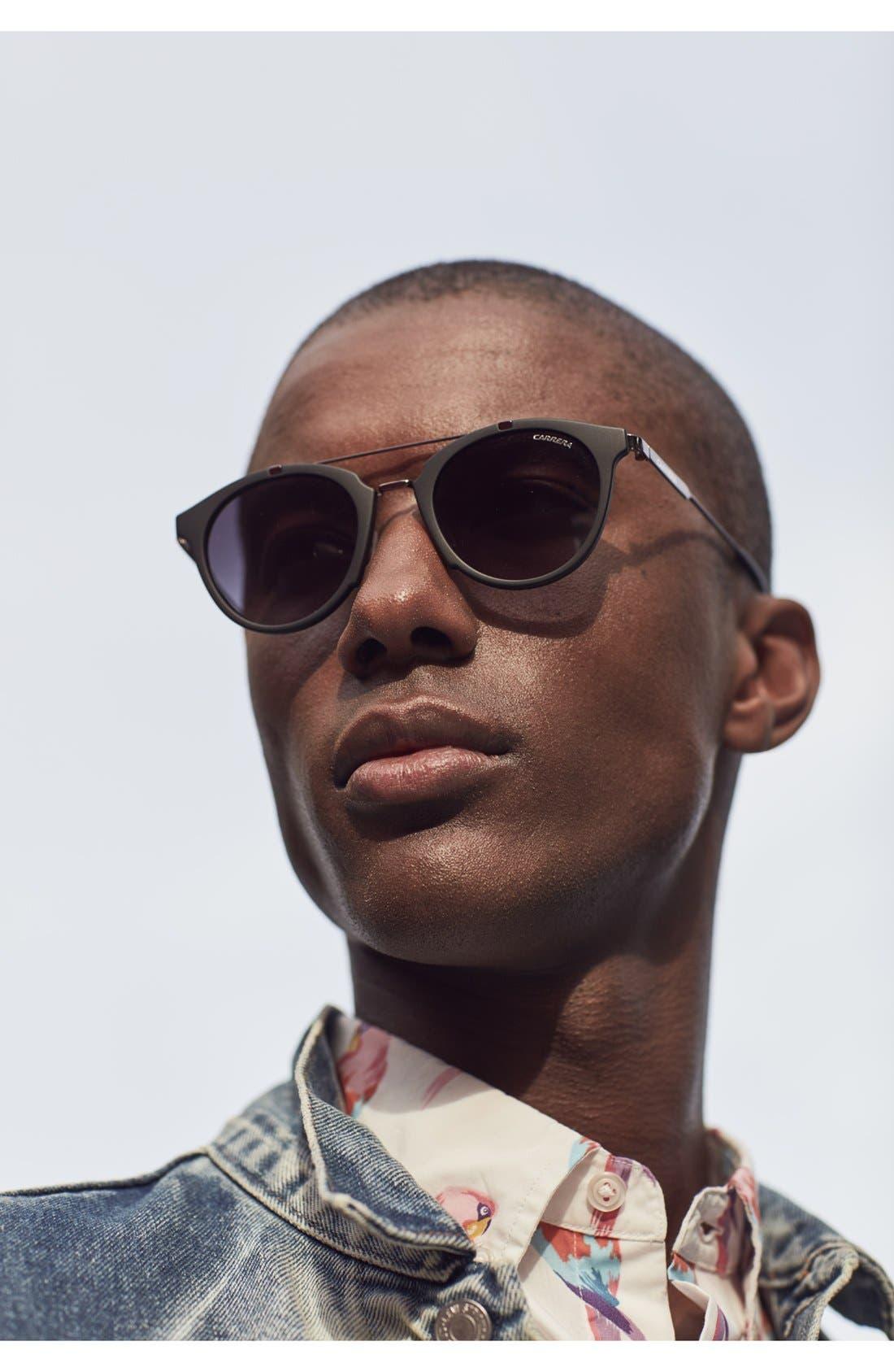 Retro 49mm Sunglasses,                             Alternate thumbnail 3, color,
