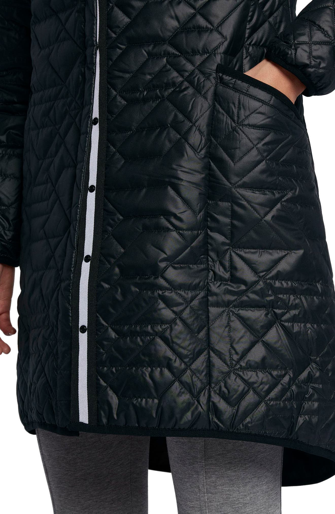 Sportswear Quilted Women's Parka,                             Alternate thumbnail 4, color,                             010