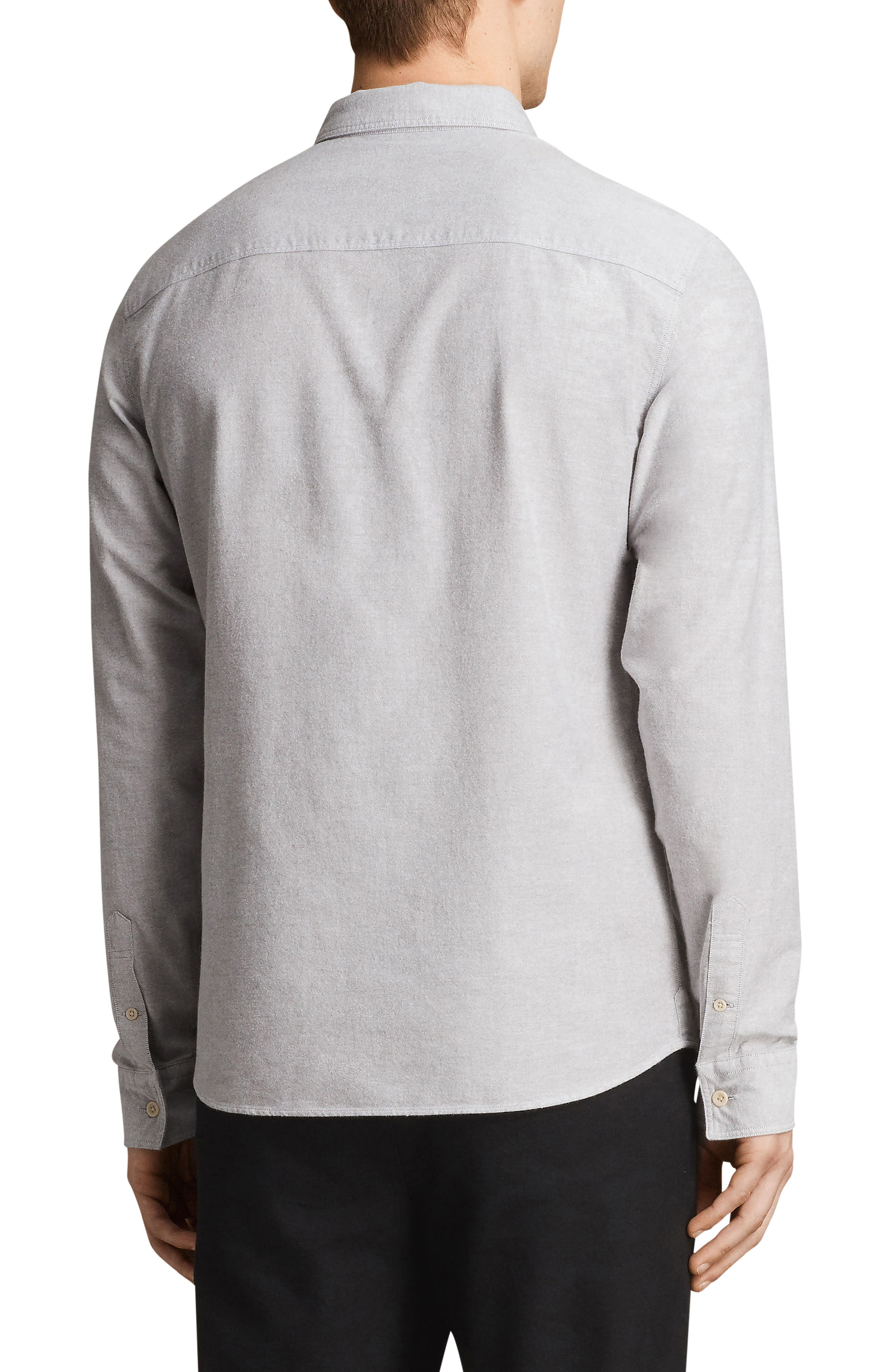 Huntington Regular Fit Sport Shirt,                             Alternate thumbnail 2, color,                             DARK GULL GREY