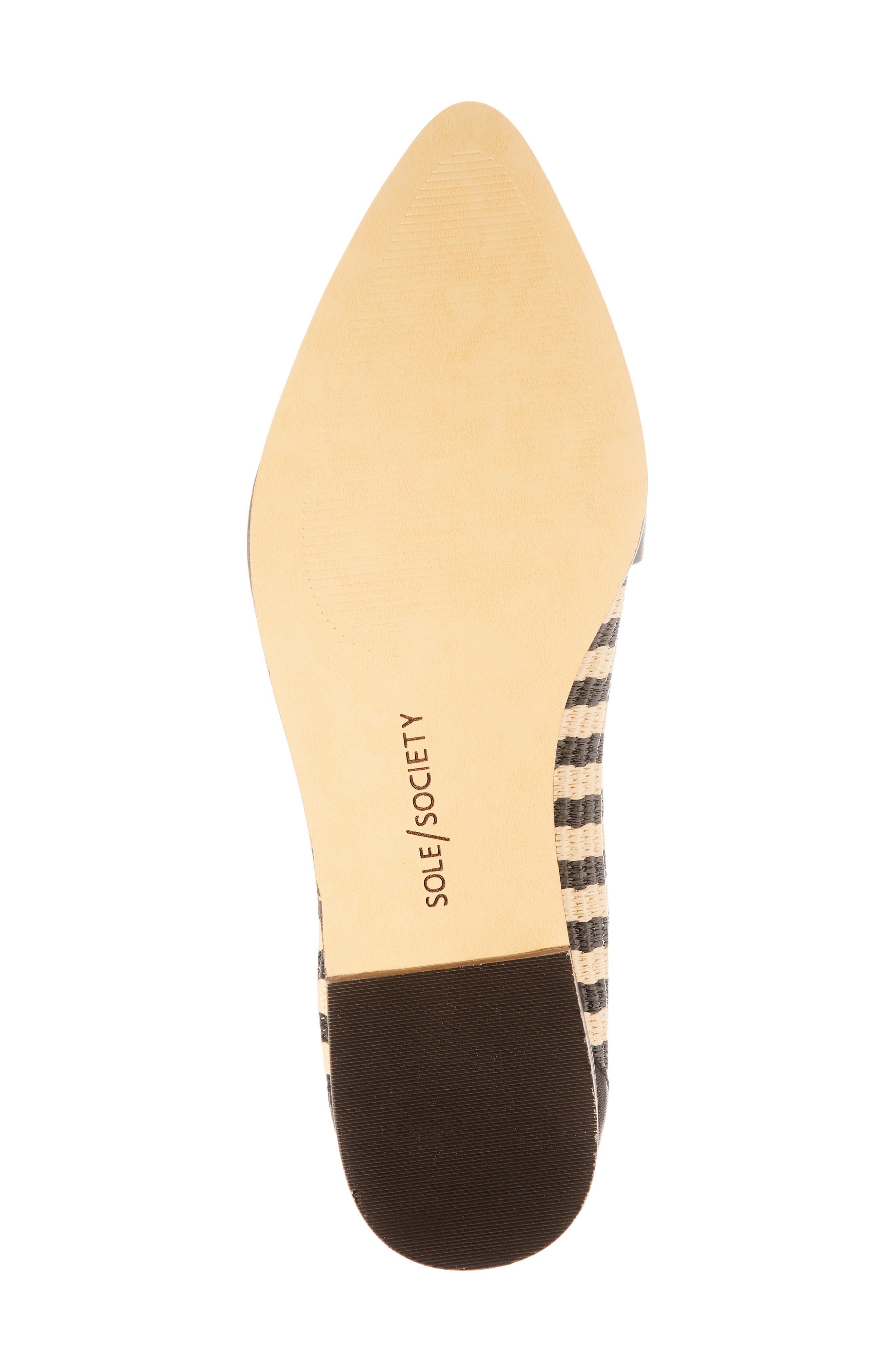 SOLE SOCIETY,                             Edie Loafer,                             Alternate thumbnail 6, color,                             NATURAL/ BLACK