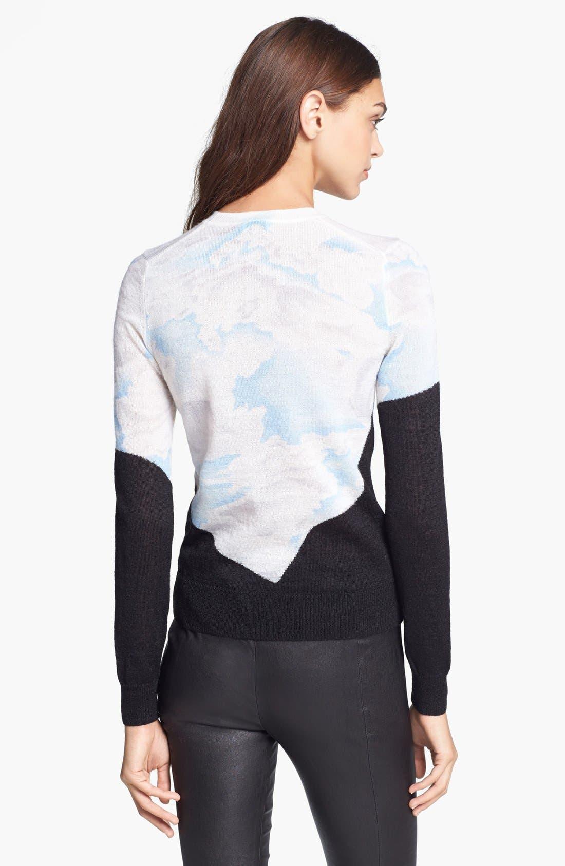 Cloud Print Sweater,                             Alternate thumbnail 3, color,                             450