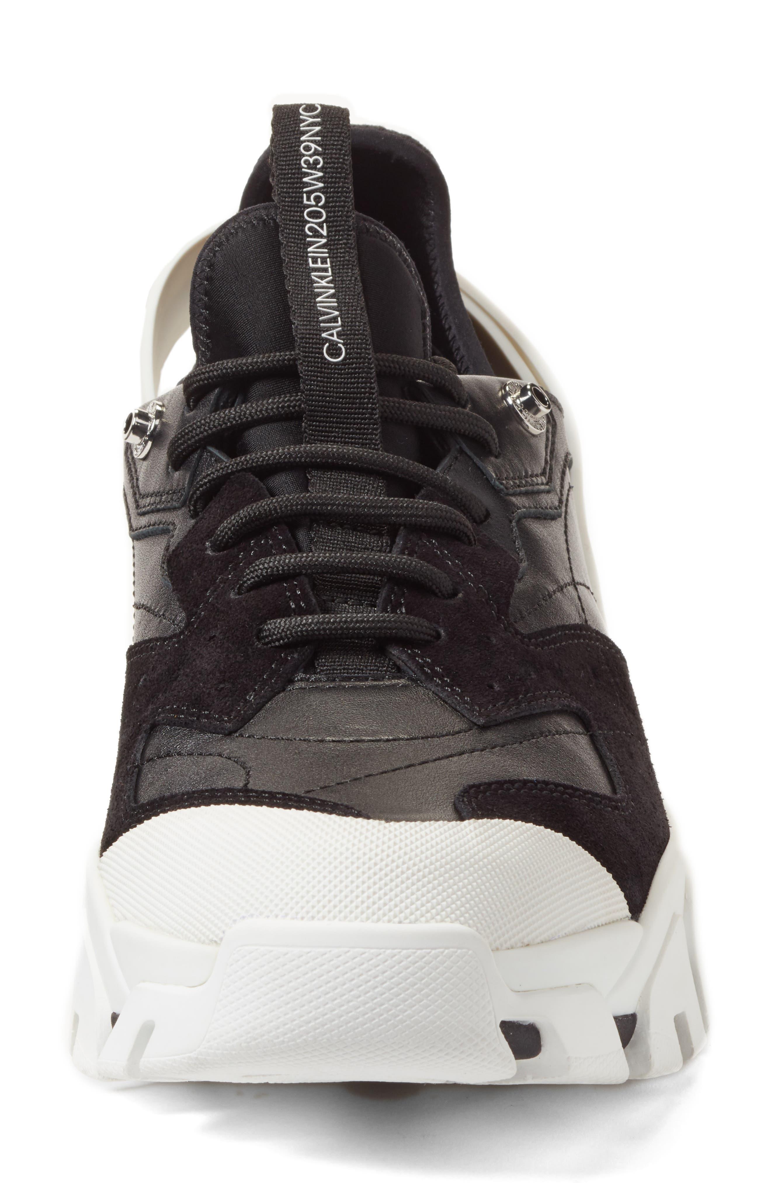 205W39NYC Carla Sneaker,                             Alternate thumbnail 4, color,                             WHITE/ BLACK