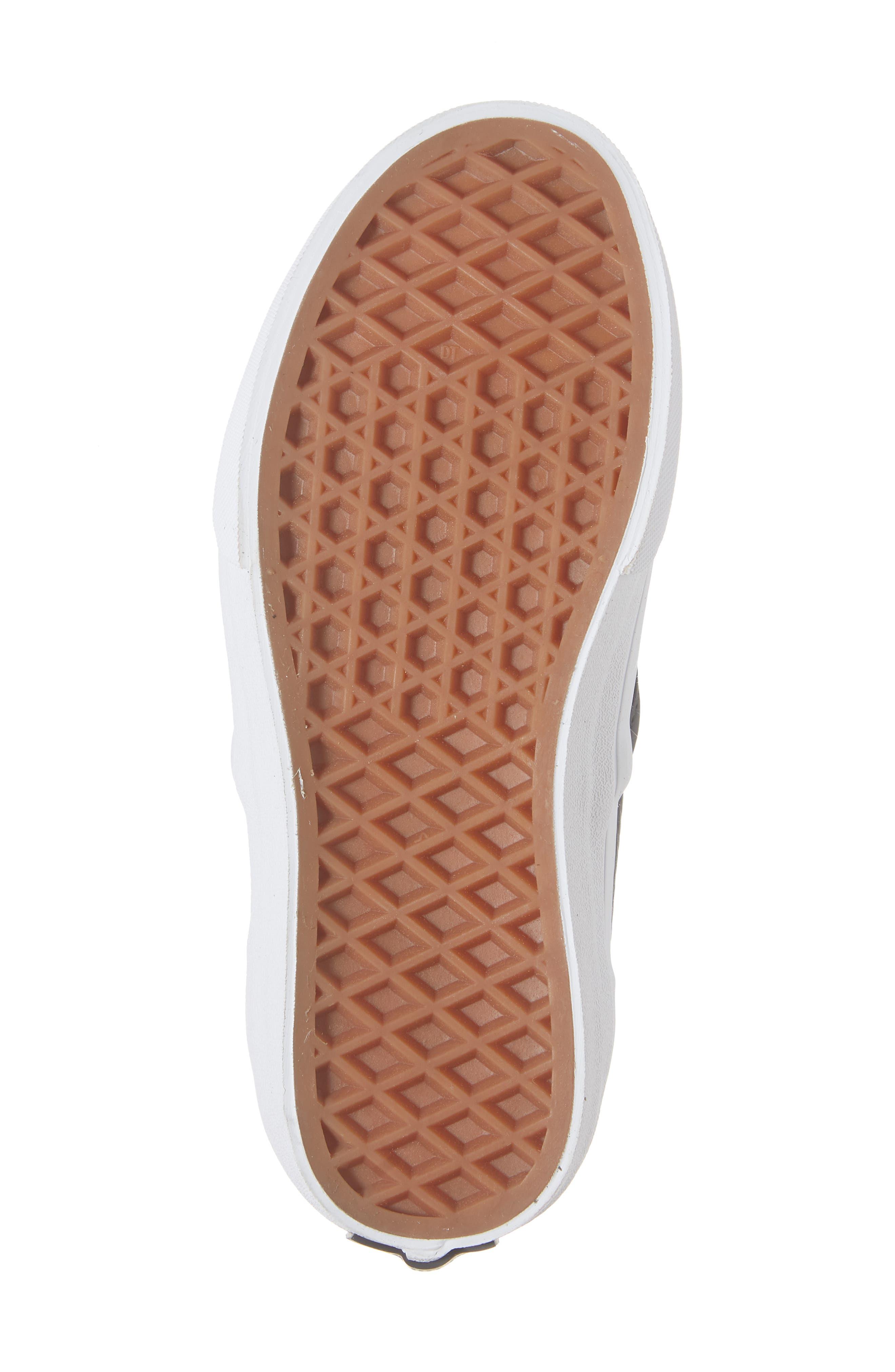'Classic' Slip-On Sneaker,                             Alternate thumbnail 6, color,                             BLACK/ TRUE WHITE LEATHER