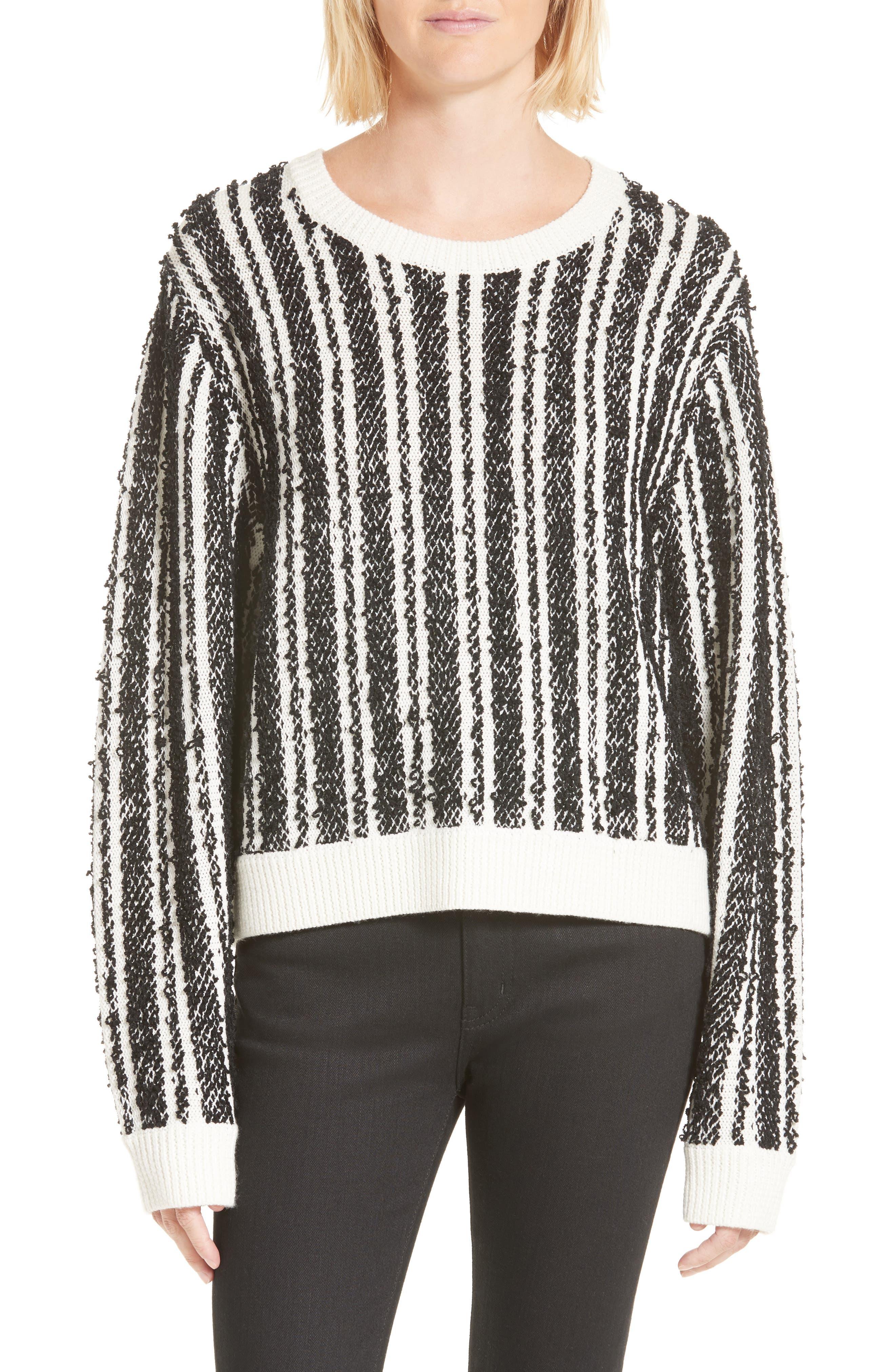 Nabila Stripe Sweater,                             Main thumbnail 1, color,                             001