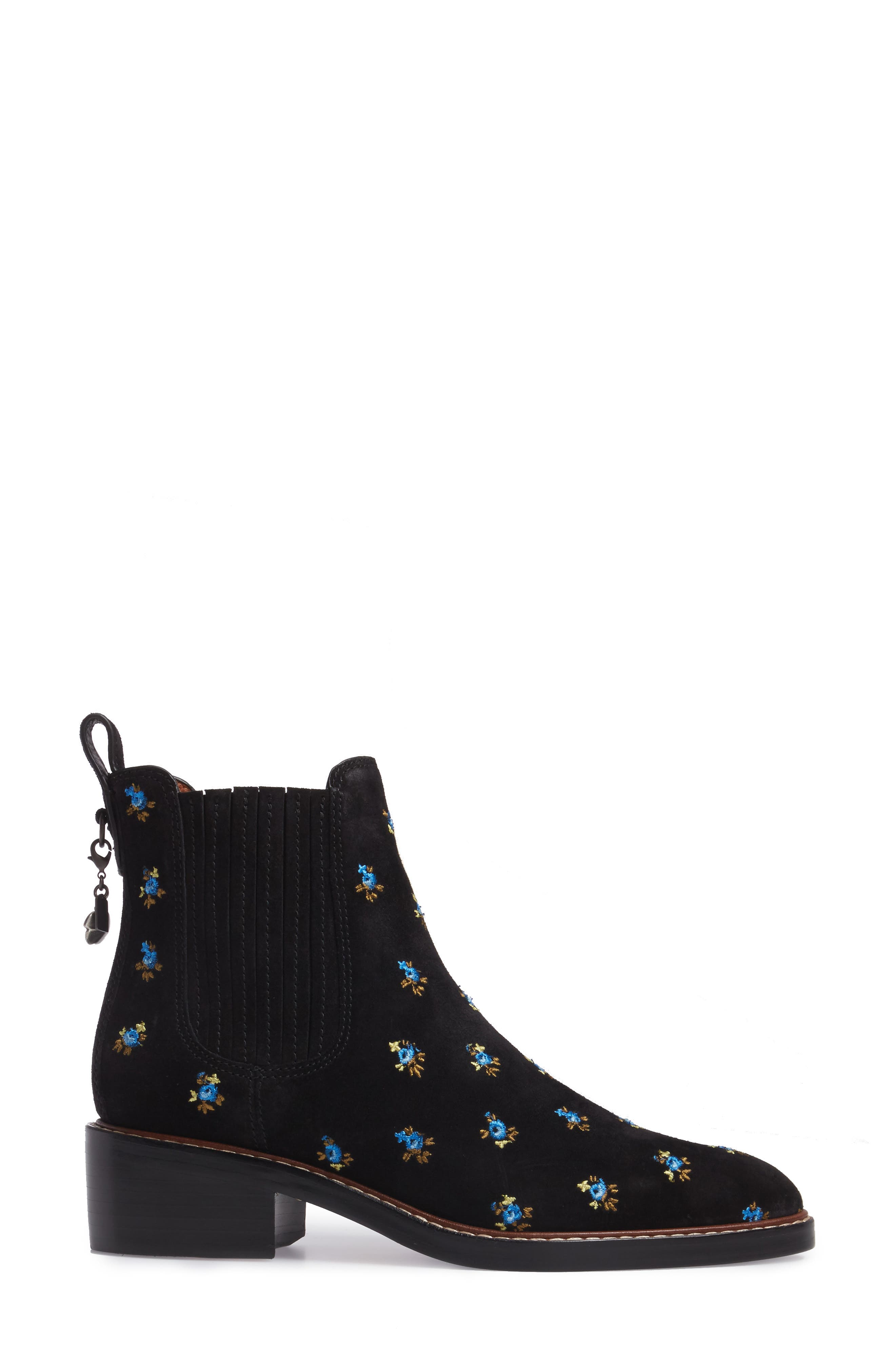 Bowery Embroidered Chelsea Bootie,                             Alternate thumbnail 6, color,