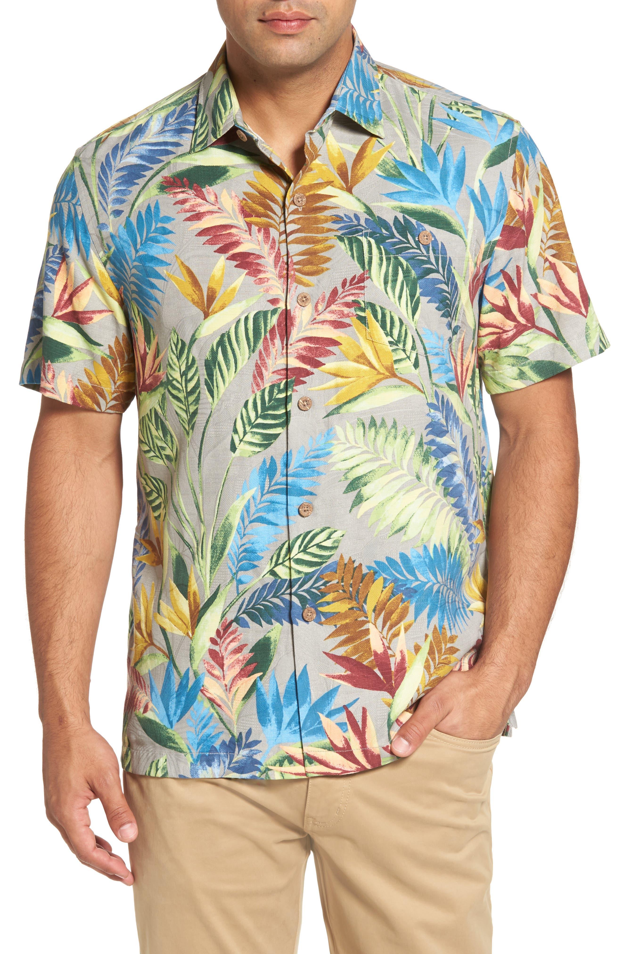 Taza Fronds Silk Brocade Woven Shirt,                         Main,                         color, 050