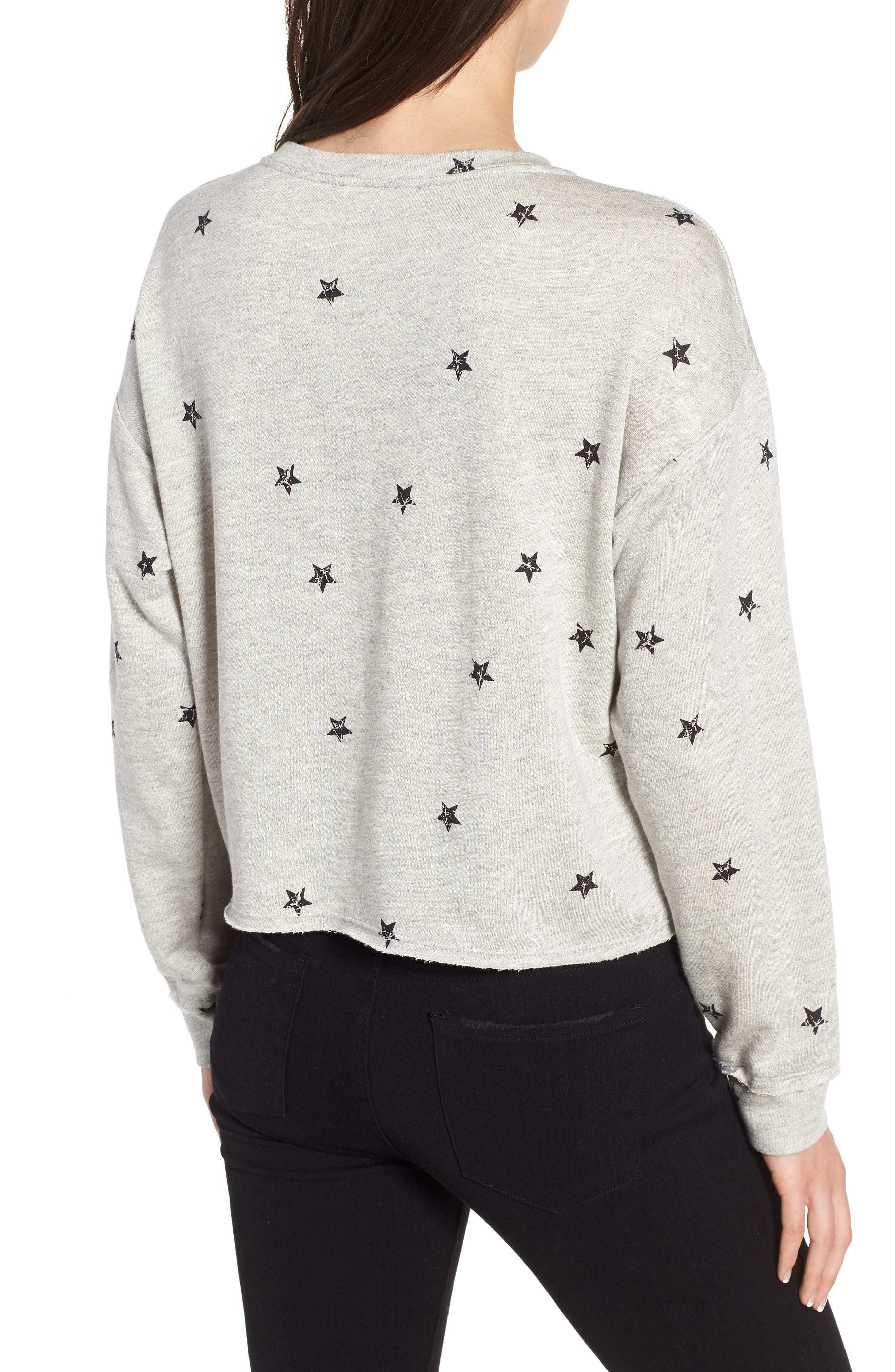 Star Print Sweatshirt,                             Alternate thumbnail 2, color,                             035