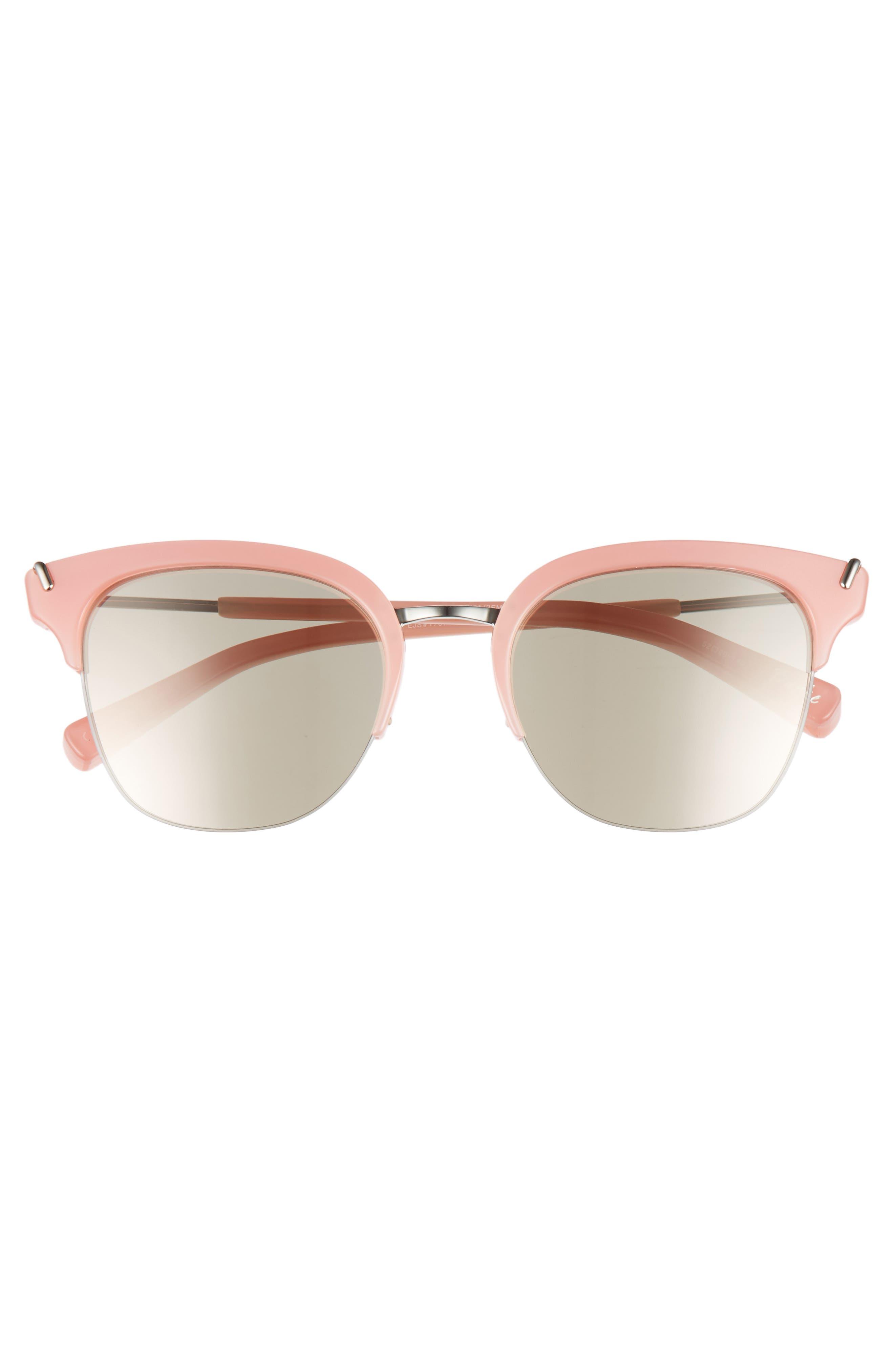 Burke 52mm Horn Rimmed Sunglasses,                             Alternate thumbnail 3, color,                             001