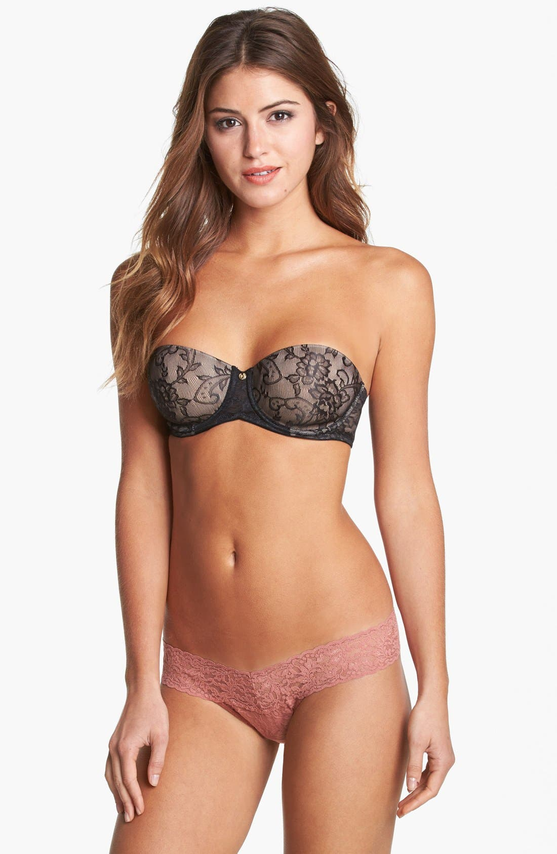 'Calais' Strapless Bra,                             Alternate thumbnail 5, color,                             005