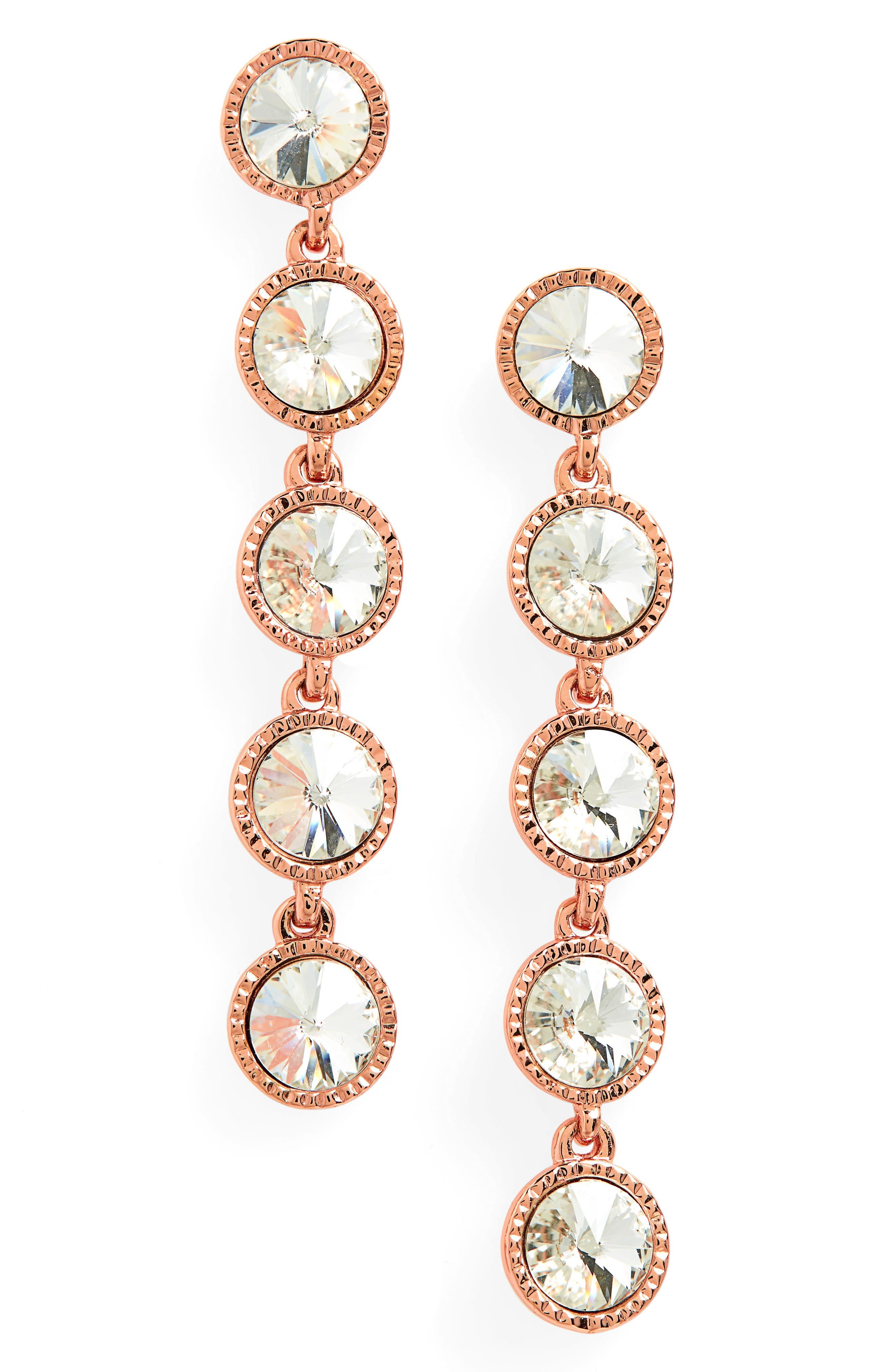 Rizza Crystal Drop Earrings,                             Main thumbnail 1, color,                             044