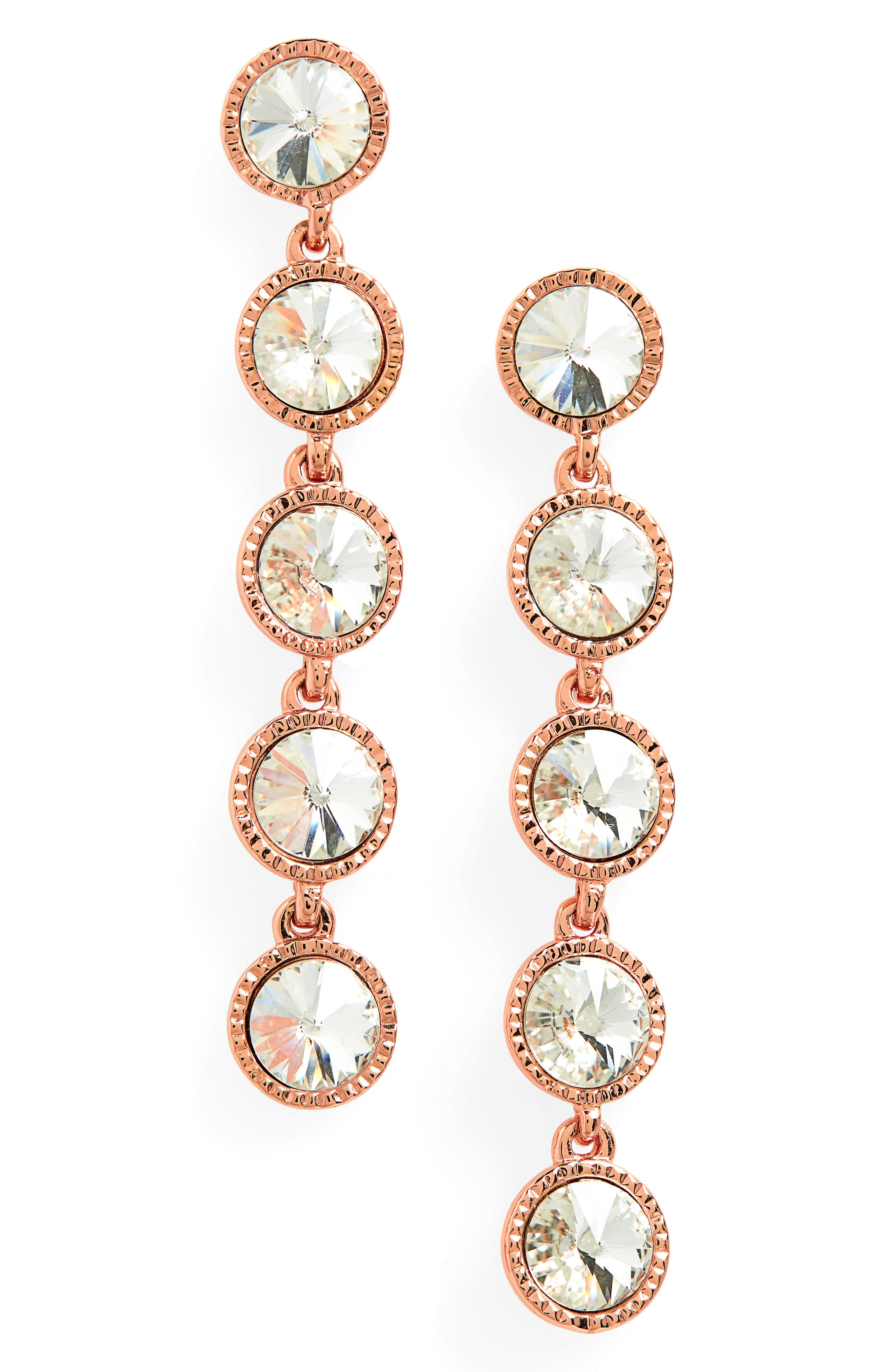 Rizza Crystal Drop Earrings,                         Main,                         color, 044