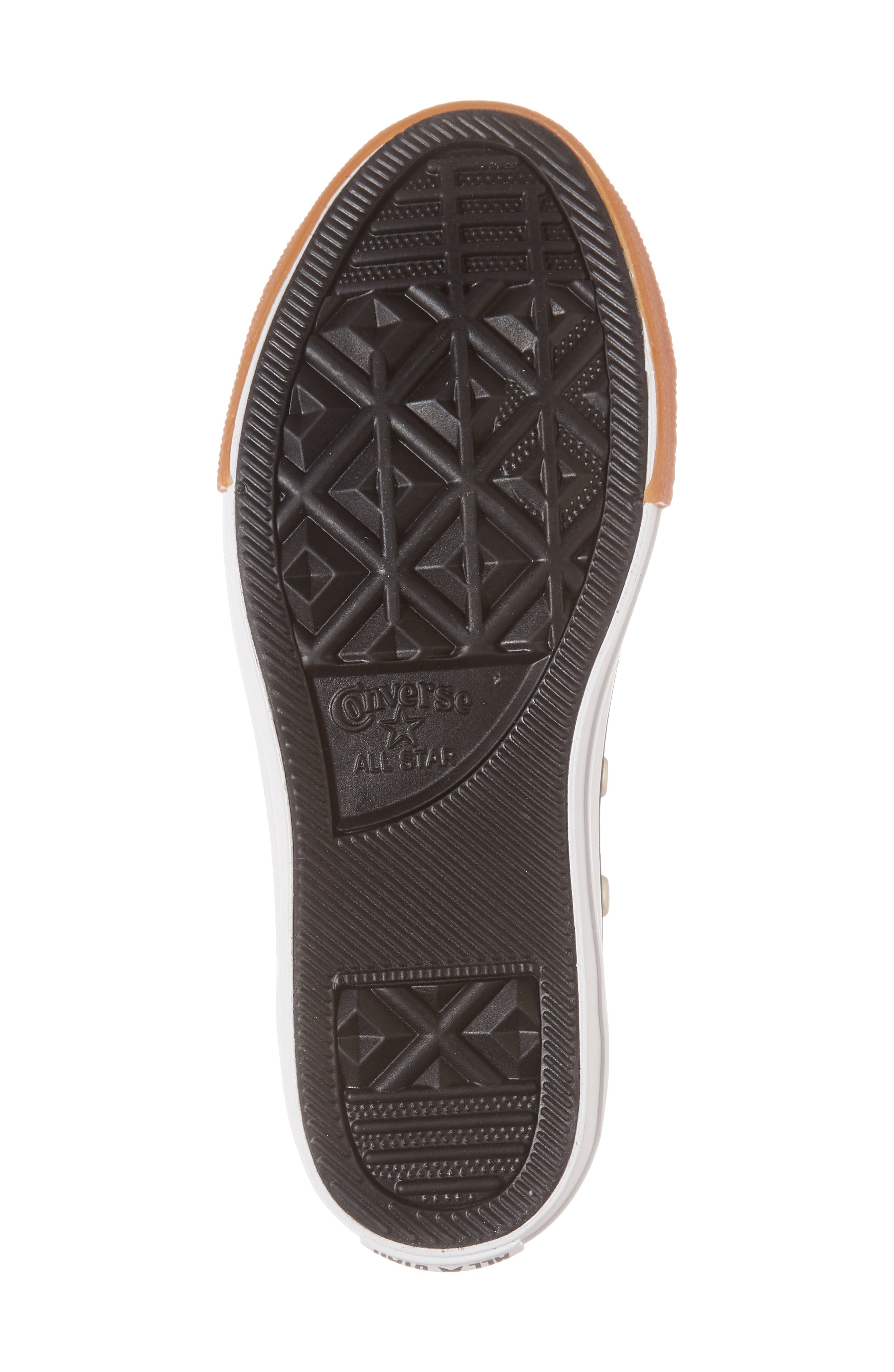 Chuck Taylor<sup>®</sup> All Star<sup>®</sup> Ox Faux Leather Sneaker,                             Alternate thumbnail 6, color,                             BLACK