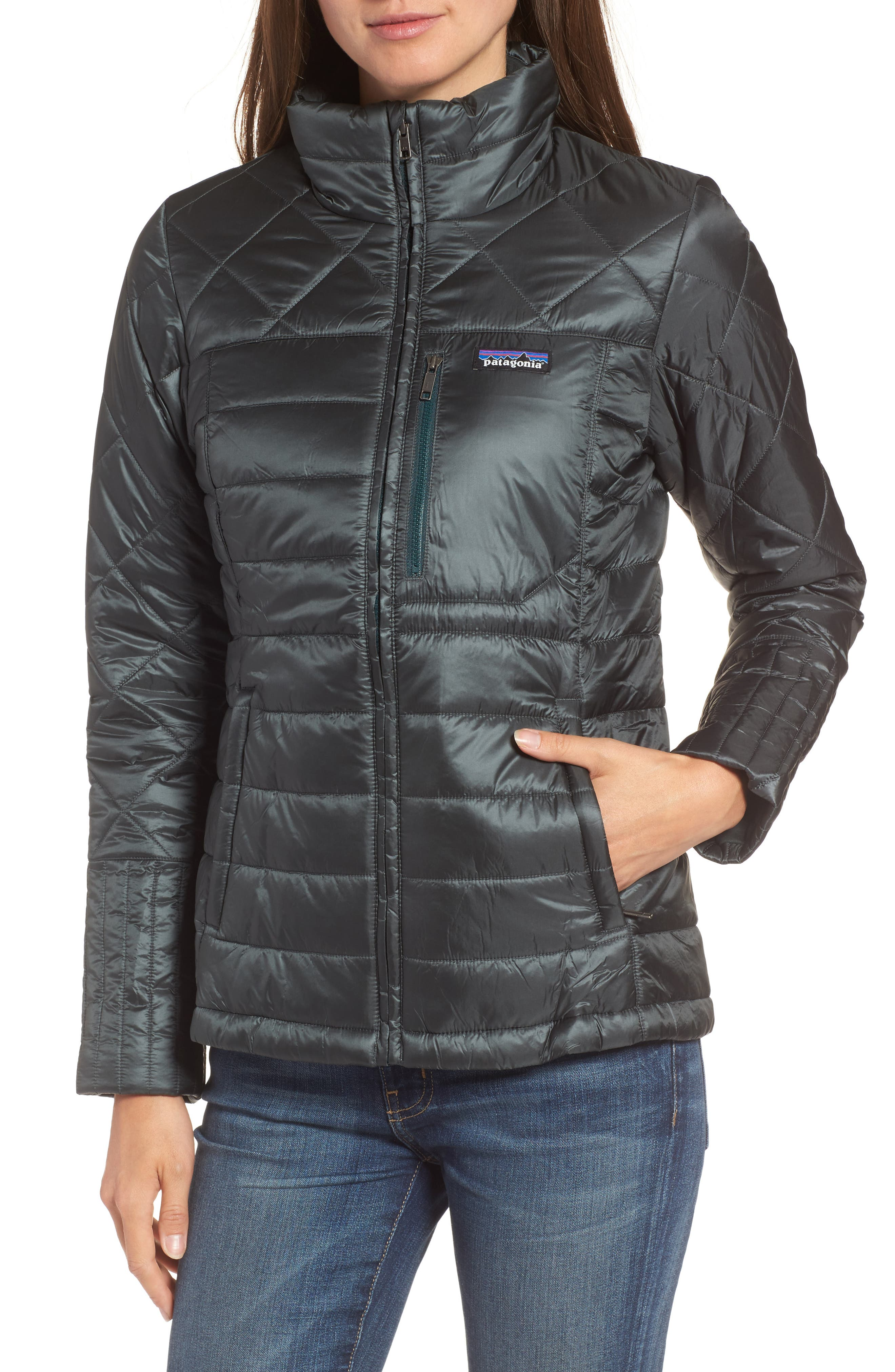 Radalie Water Repellent Thermogreen-Insulated Jacket,                             Alternate thumbnail 4, color,                             FORGE GREY