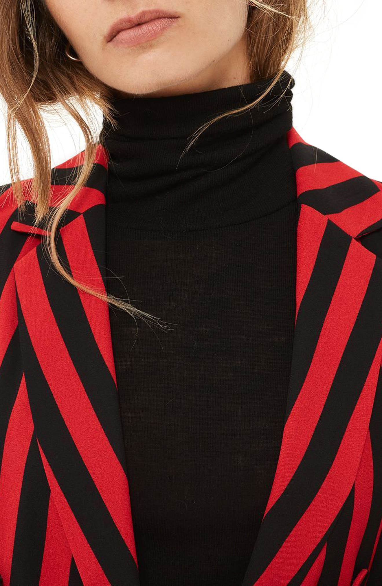 Humbug Stripe Double Breasted Blazer,                             Alternate thumbnail 3, color,                             601