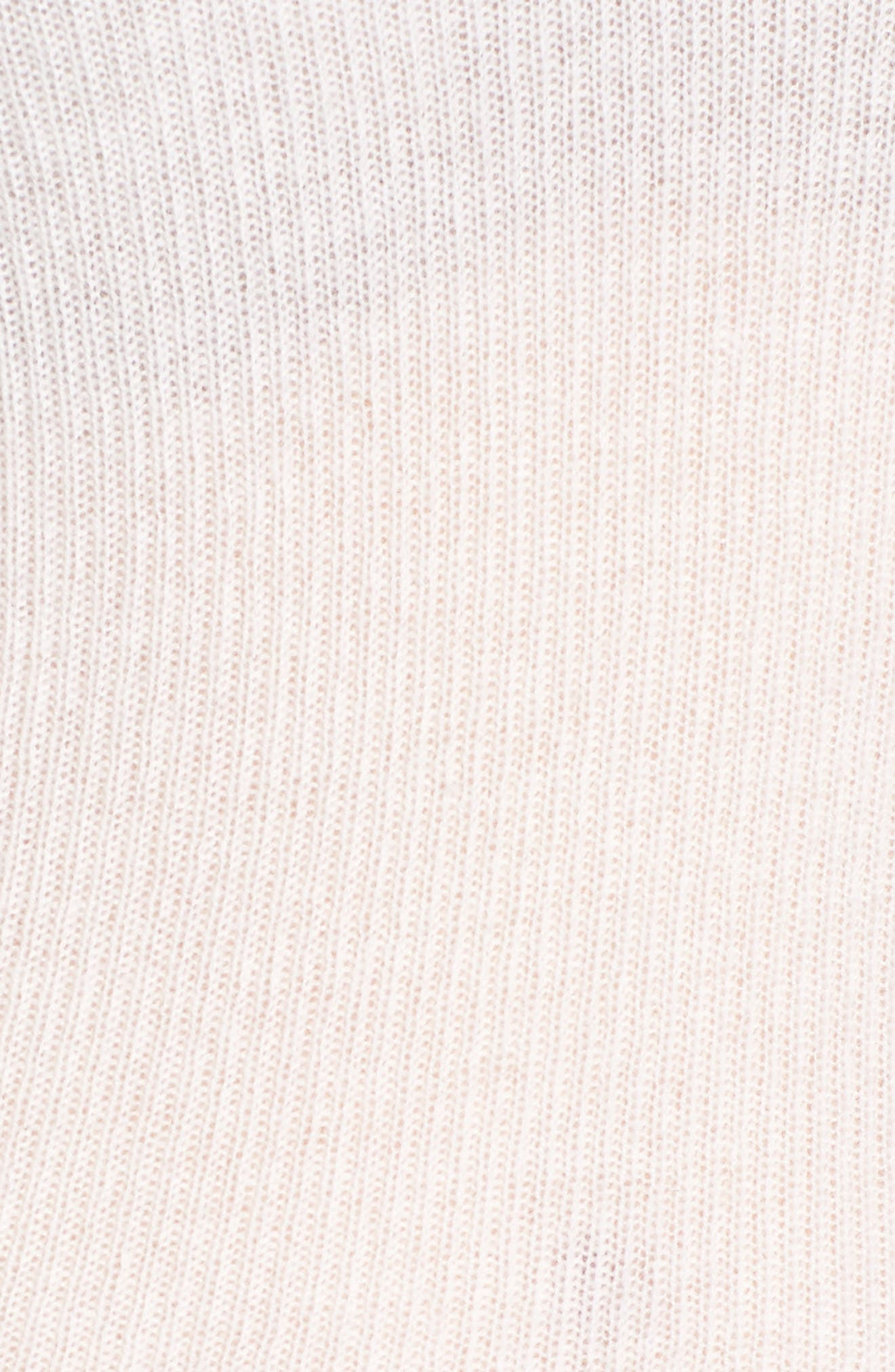Cashmere V-Neck Sweater,                             Alternate thumbnail 5, color,                             100