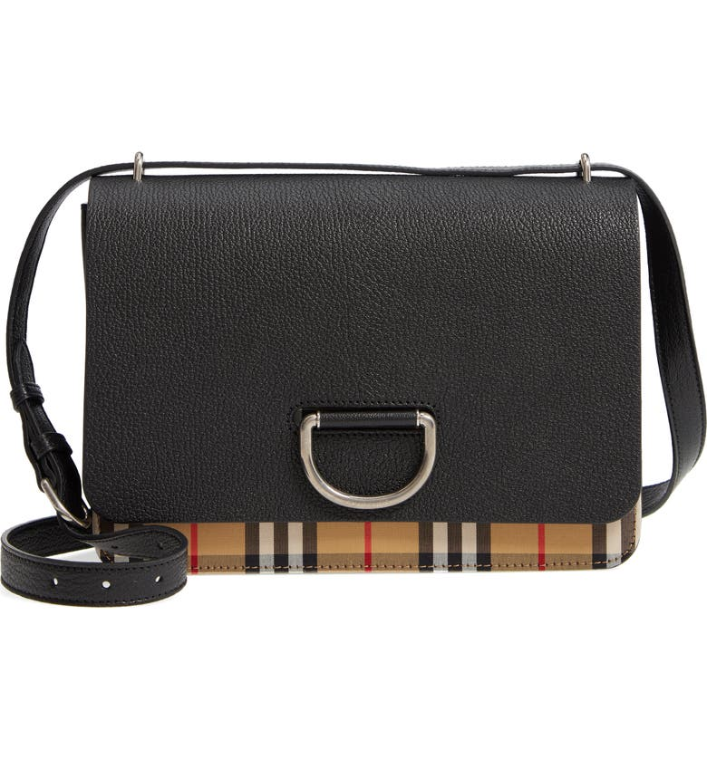 Burberry Medium D-Ring Vintage Check   Leather Crossbody Bag  04b1a312a2885