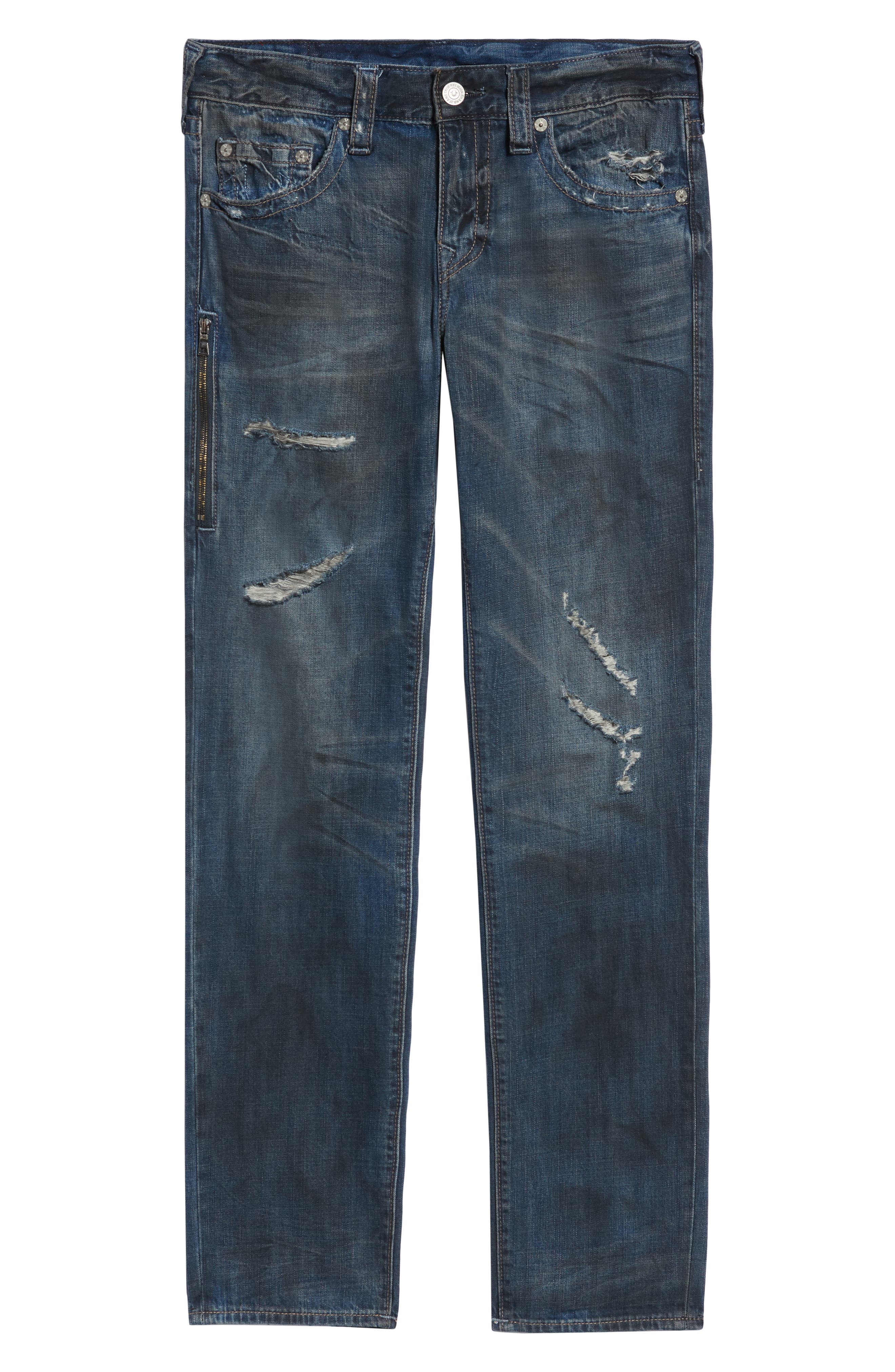 Rocco Distressed Skinny Fit Jeans,                             Alternate thumbnail 6, color,                             MIDNIGHT STORM