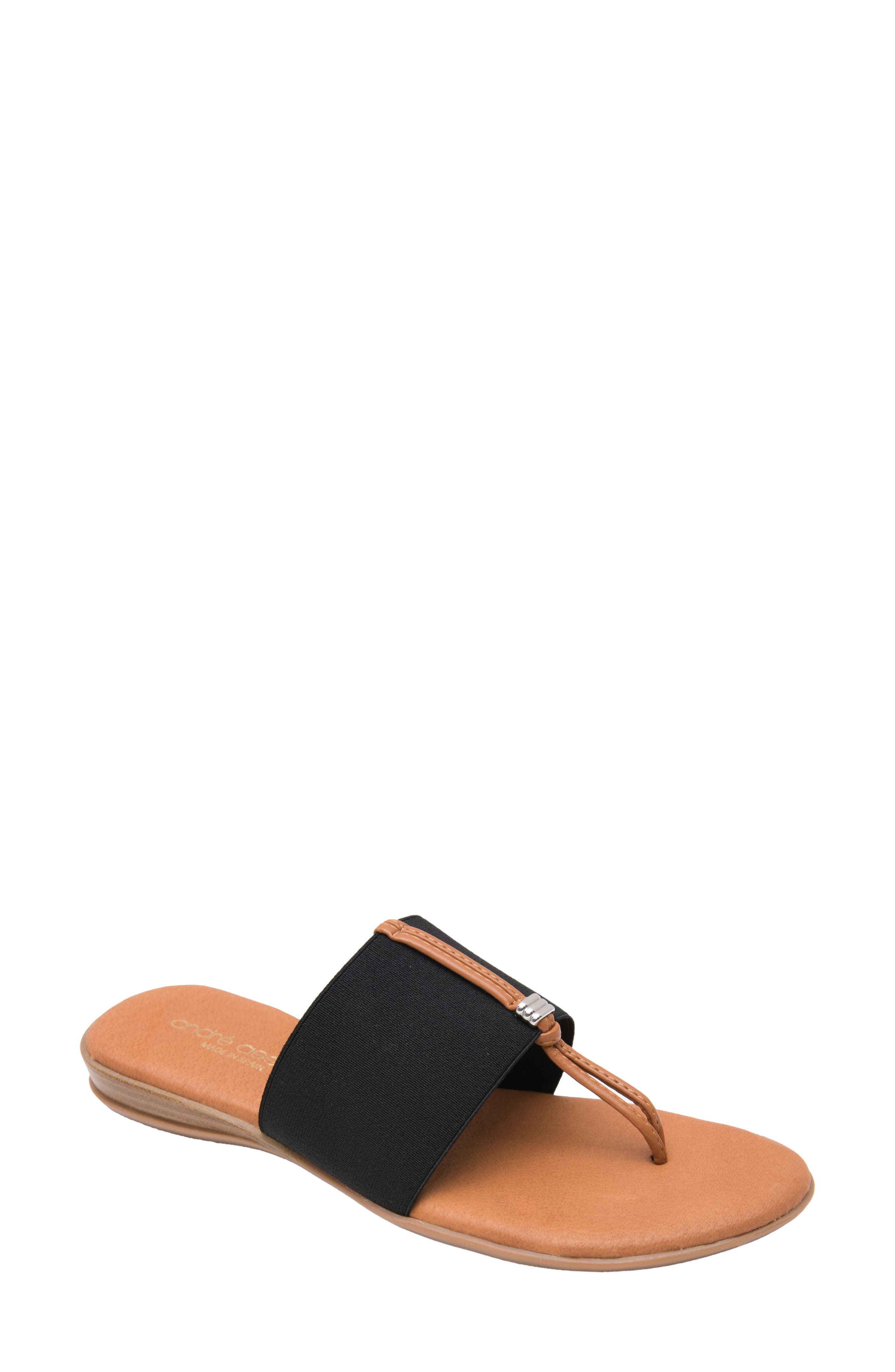 ANDRE ASSOUS Nice Sandal in Black Fabric