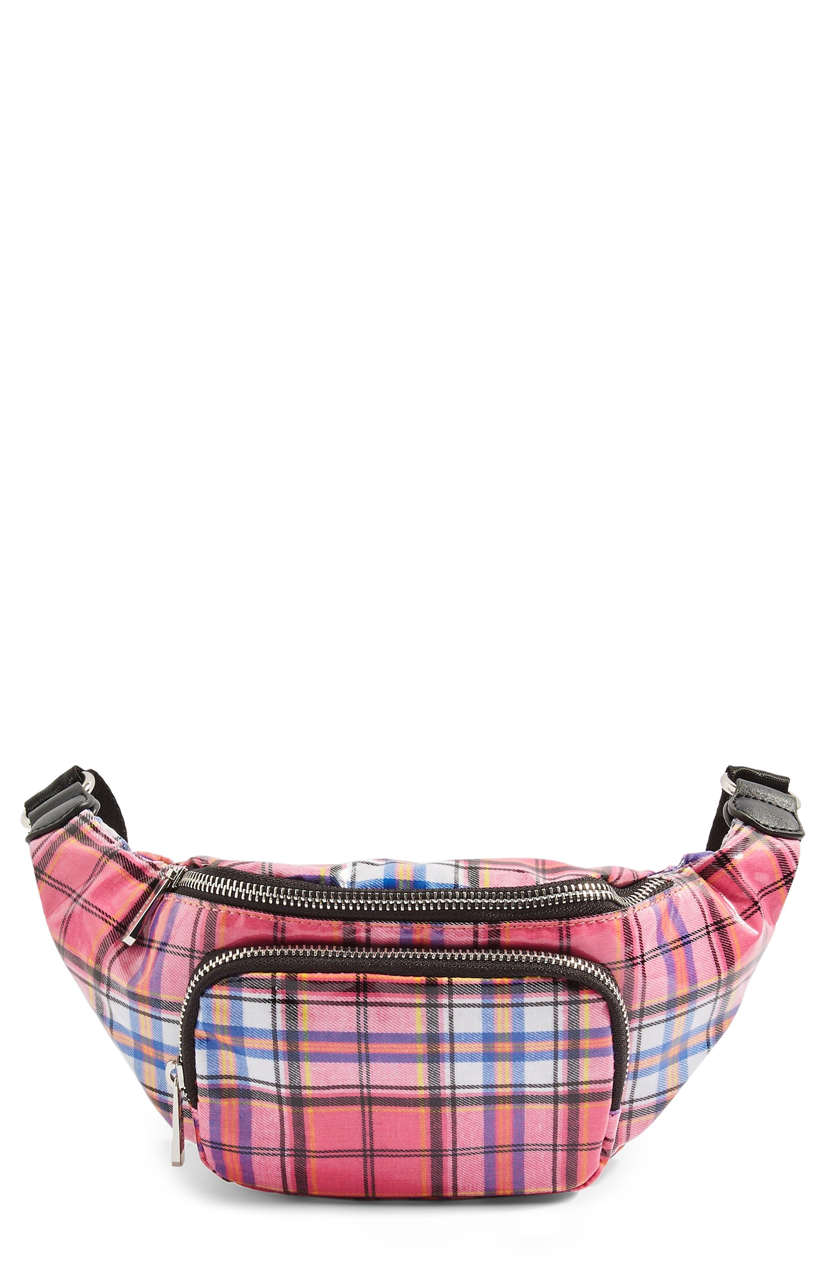 Callie Check Belt Bag,                         Main,                         color, 650