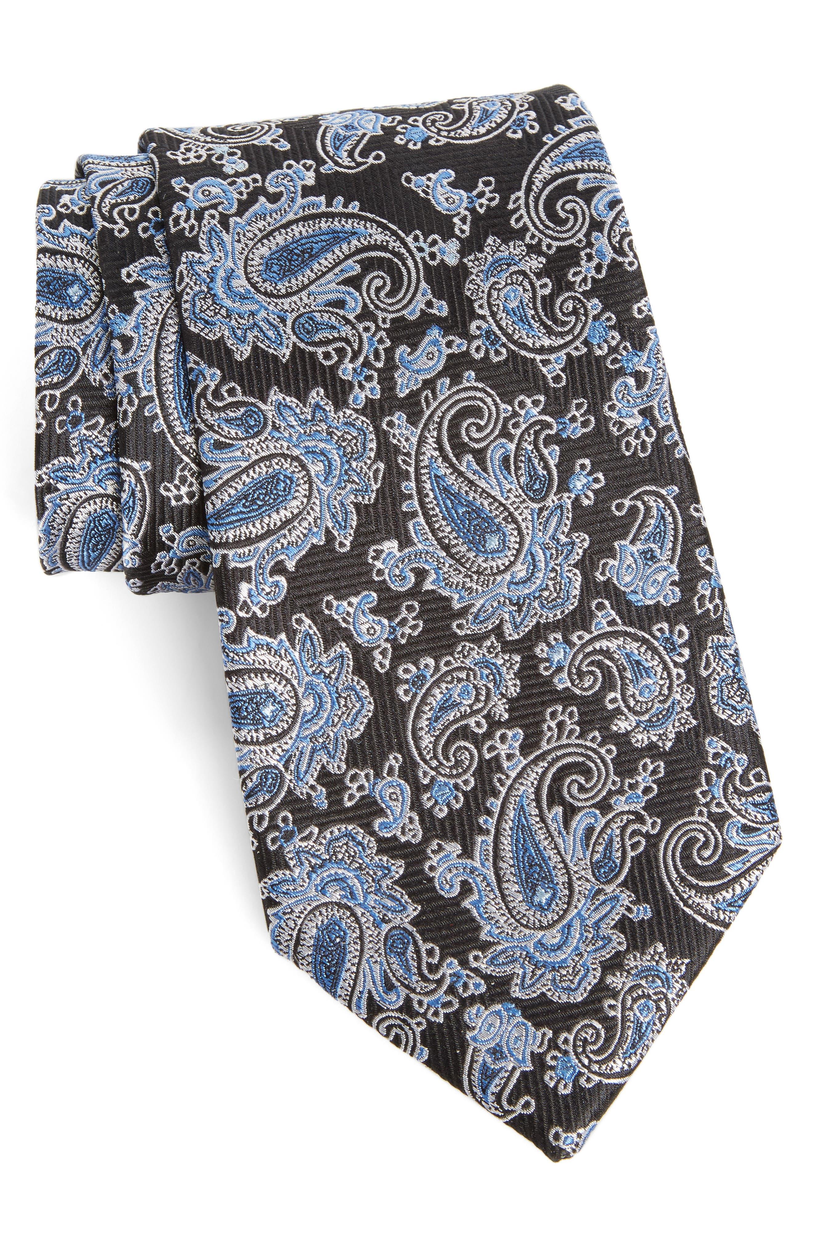 Paisley Silk Tie,                             Main thumbnail 1, color,