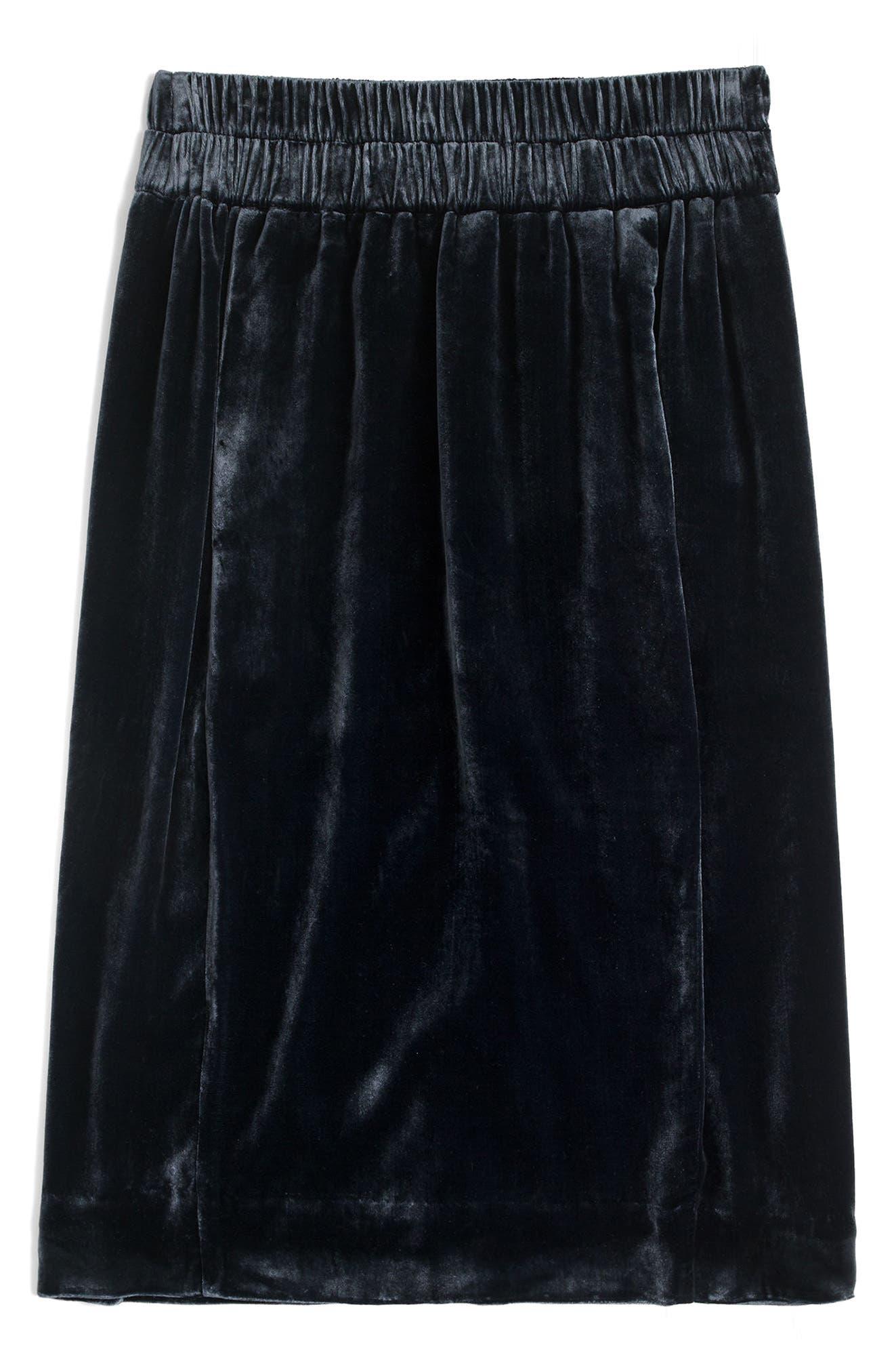 Pull-On Velvet Skirt,                             Main thumbnail 1, color,                             400