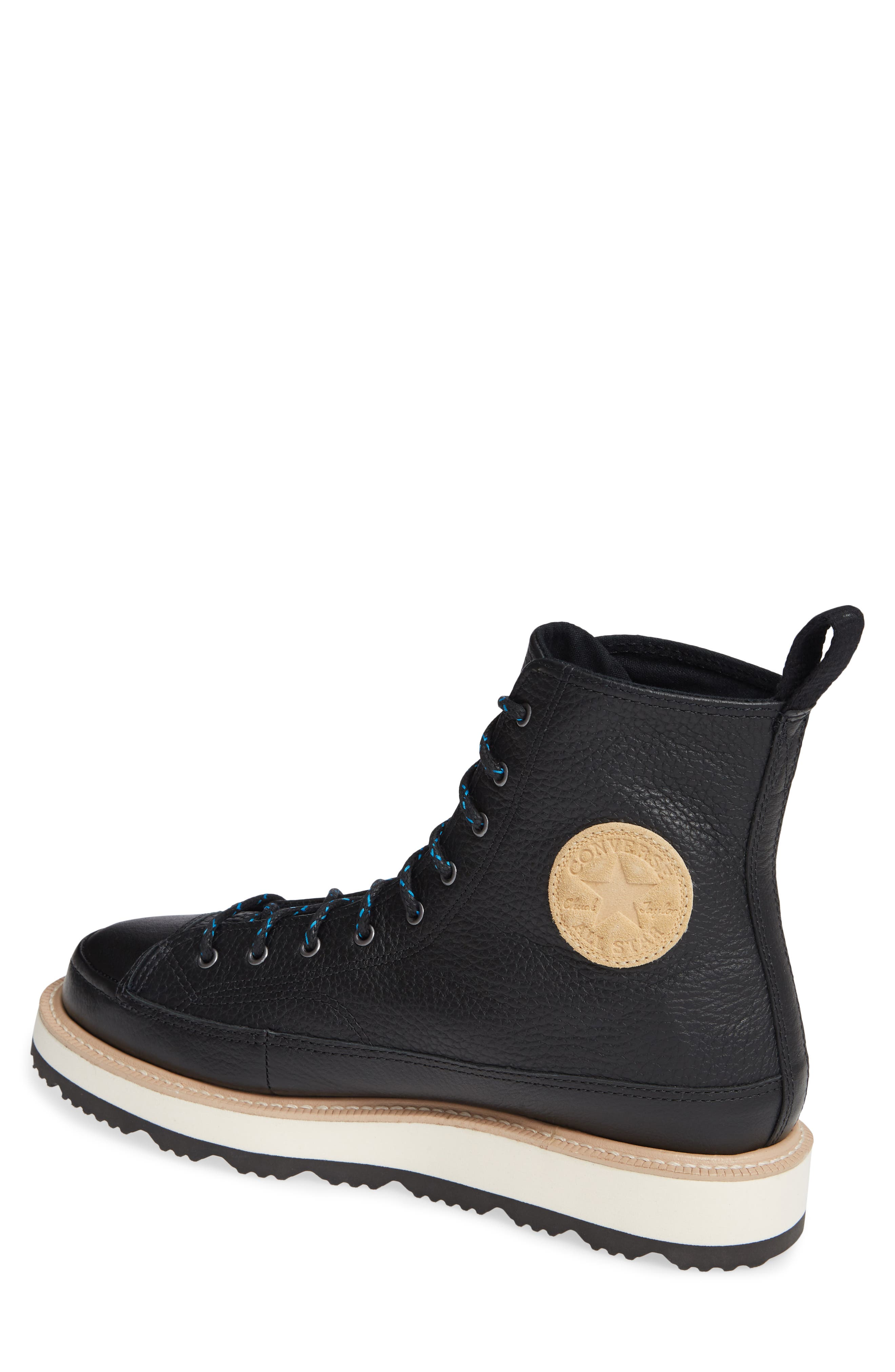 Chuck Taylor<sup>®</sup> Crafted Boot,                             Alternate thumbnail 2, color,                             BLACK/ LIGHT FAWN/ BLACK