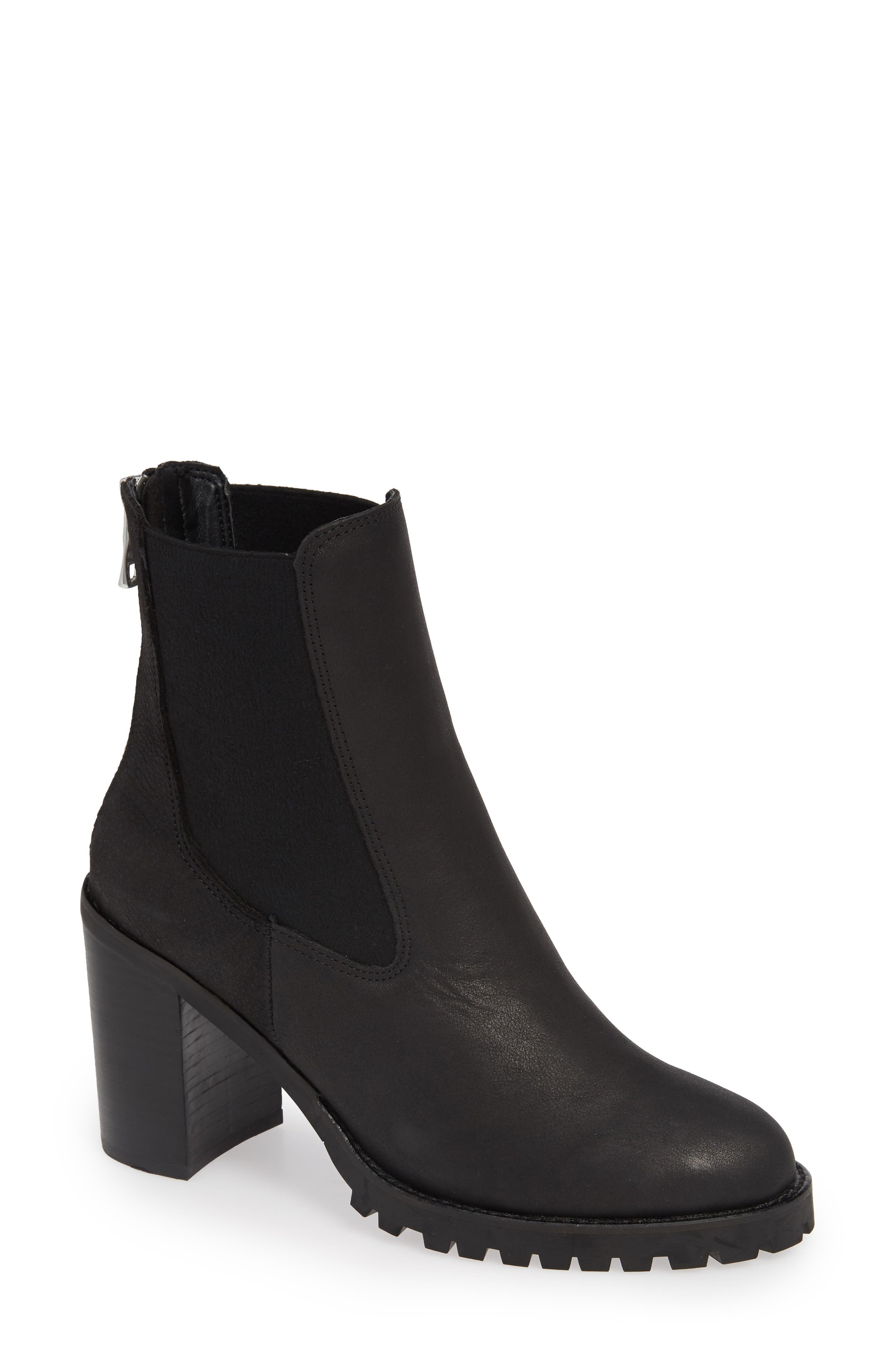 Chinese Laundry Jersey Zip Chelsea Bootie- Black